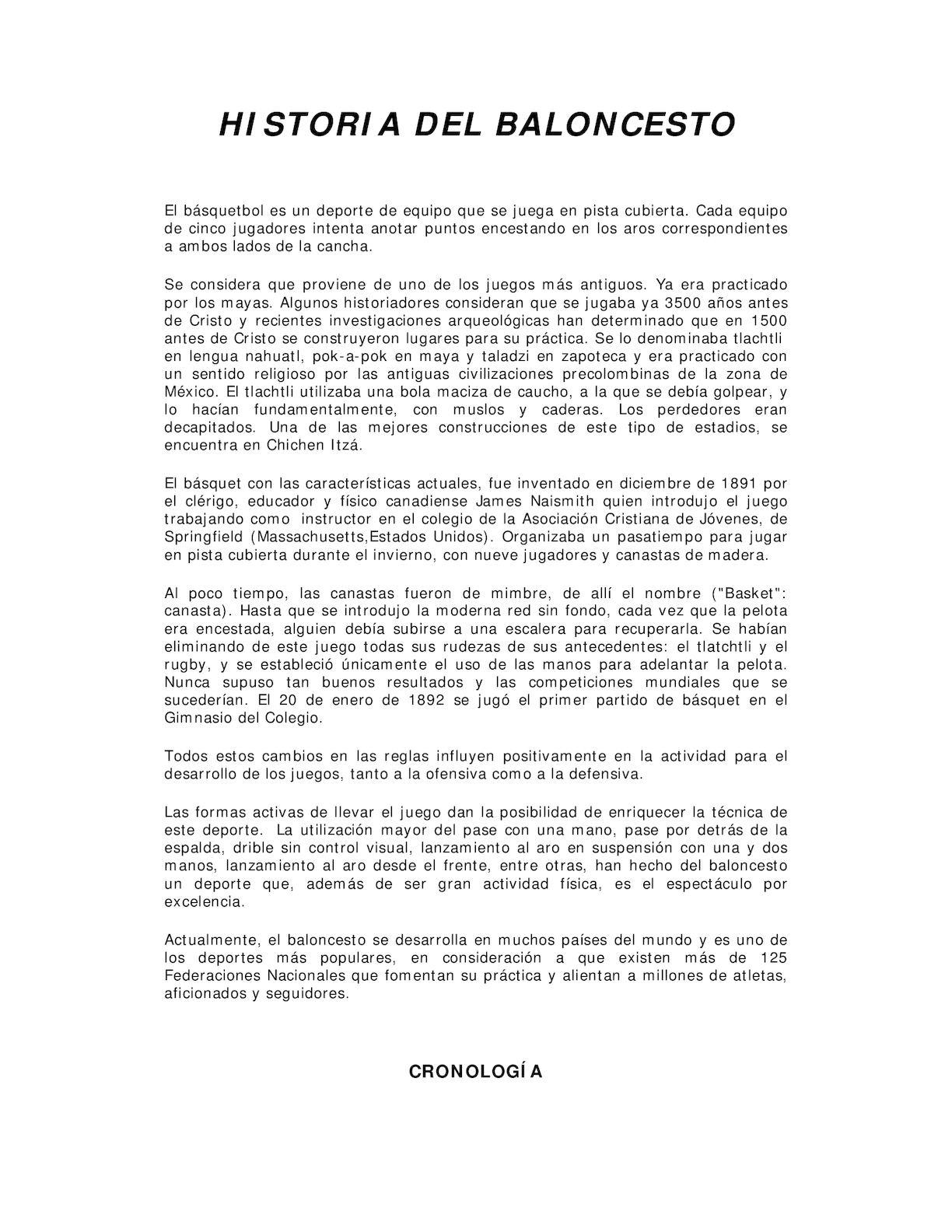 Calameo Historia Del Baloncesto