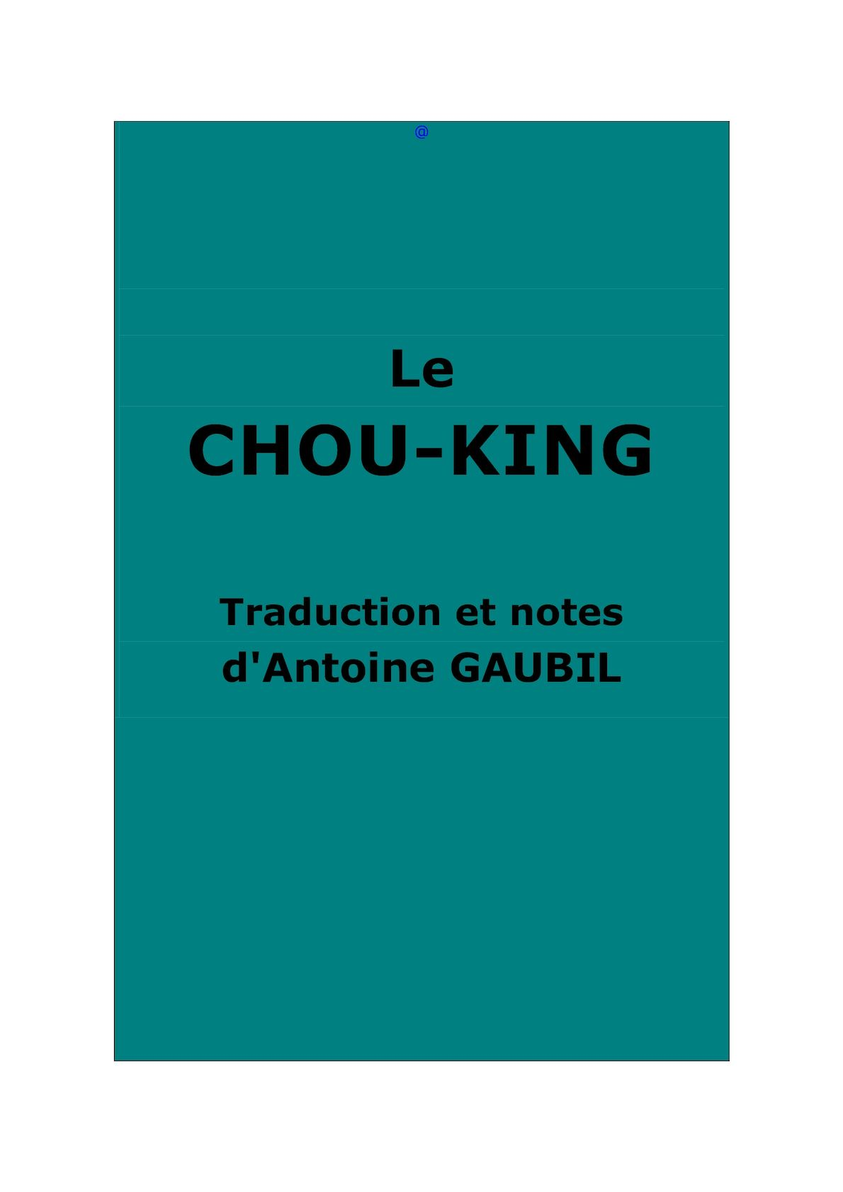 Kingshu JingTraduction Calaméo Chou Kingshu Calaméo Chou AGaubil JingTraduction KJTcF13l
