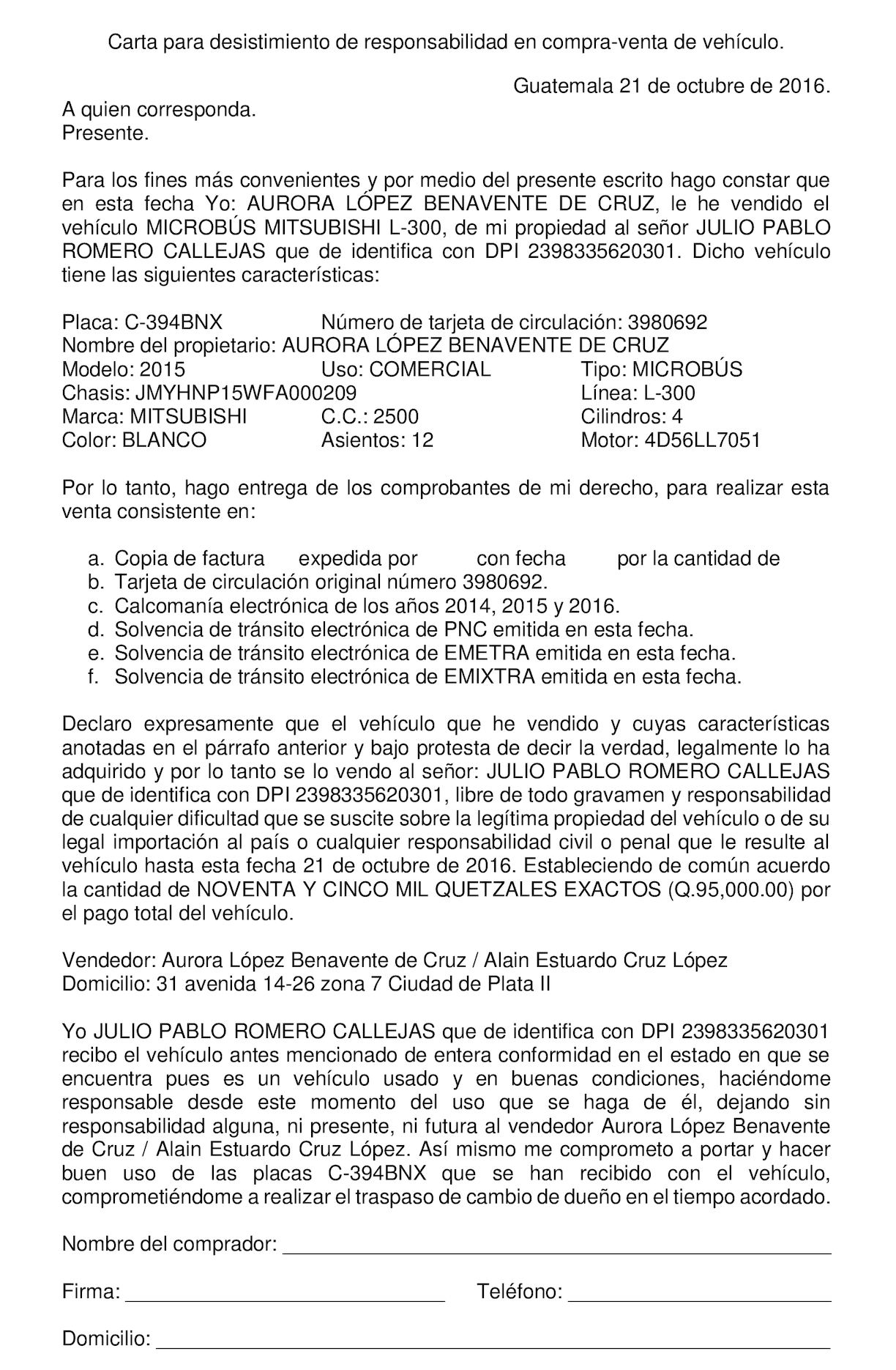 Calaméo Carta Responsiva De Venta