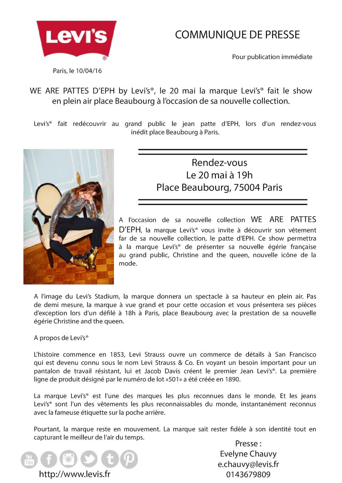 Très Calaméo - Communiqué de presse - Levi's We Are Patte d'Eph QT56