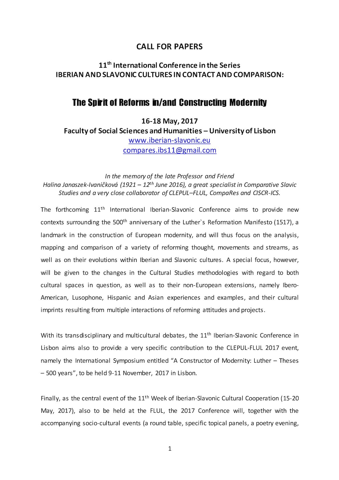 Humanities Conferences Call For Papers