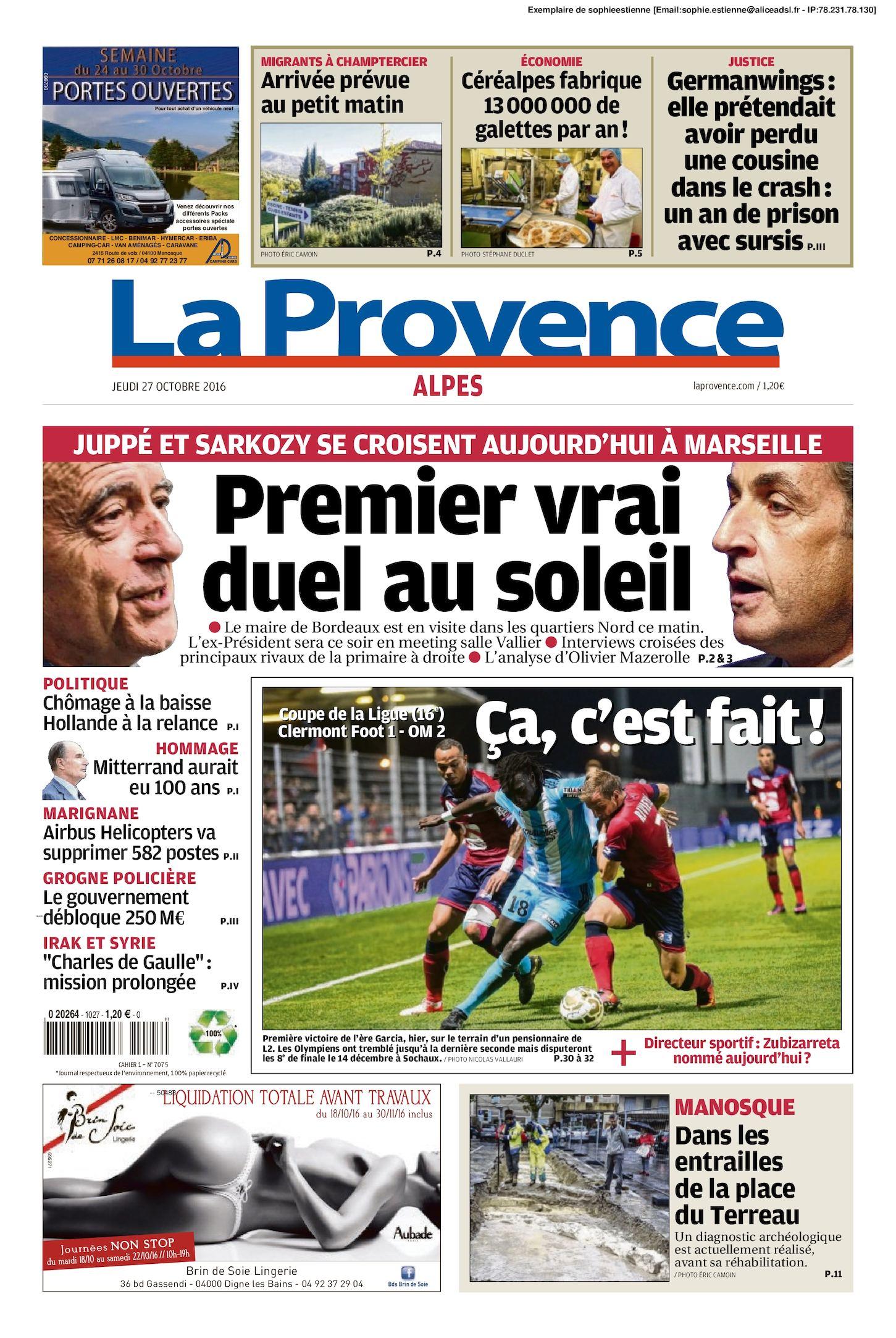 27 Edition Du 2016 Alpes Provence Calaméo La 10 54L3RAjq