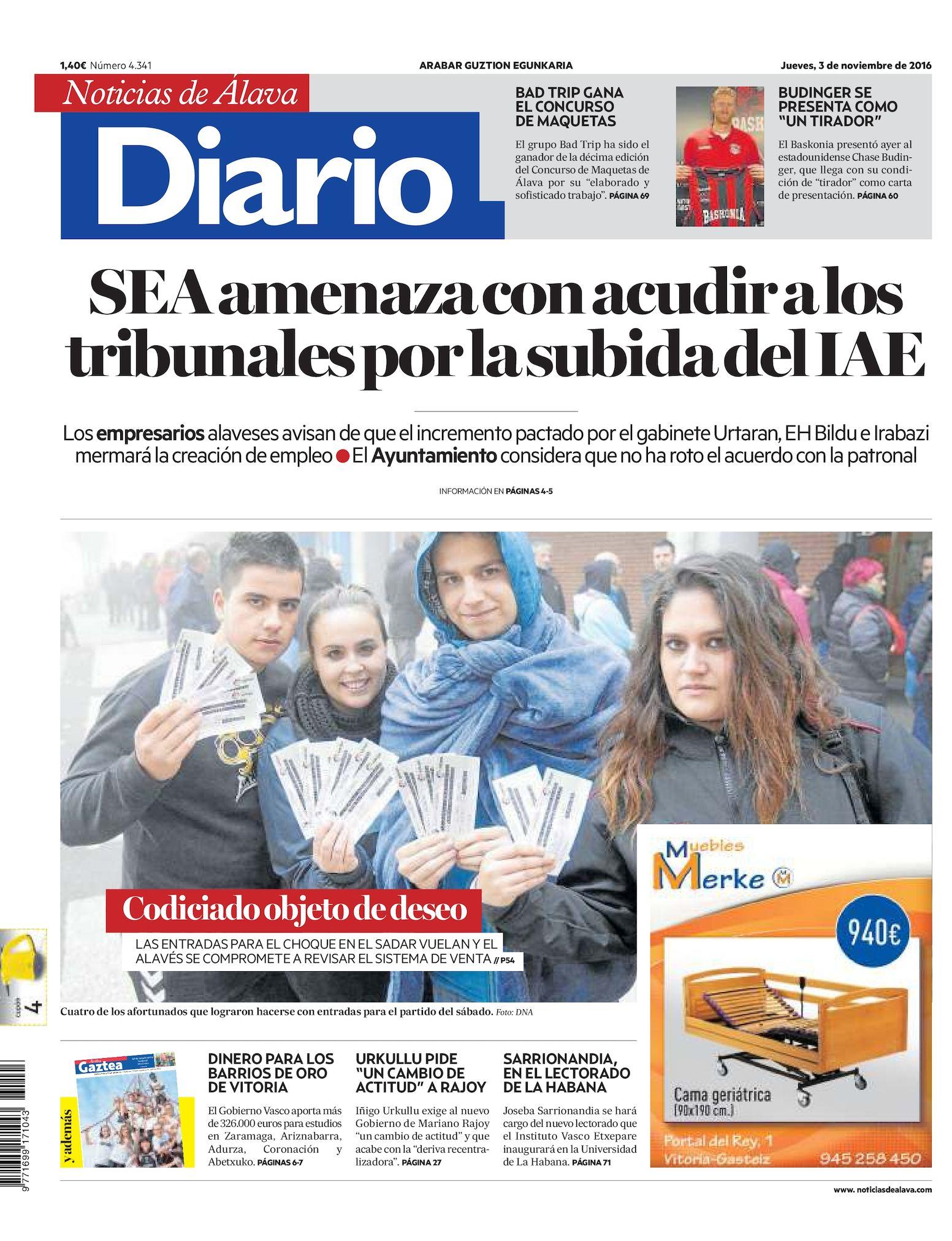 best service d9da6 cd9c7 Calaméo - Diario de Noticias de Álava 20161103