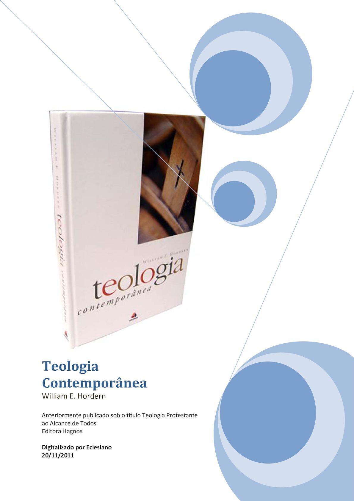 42b11dd4785 Calaméo - Teologia Contemporânea - William E. Hordern