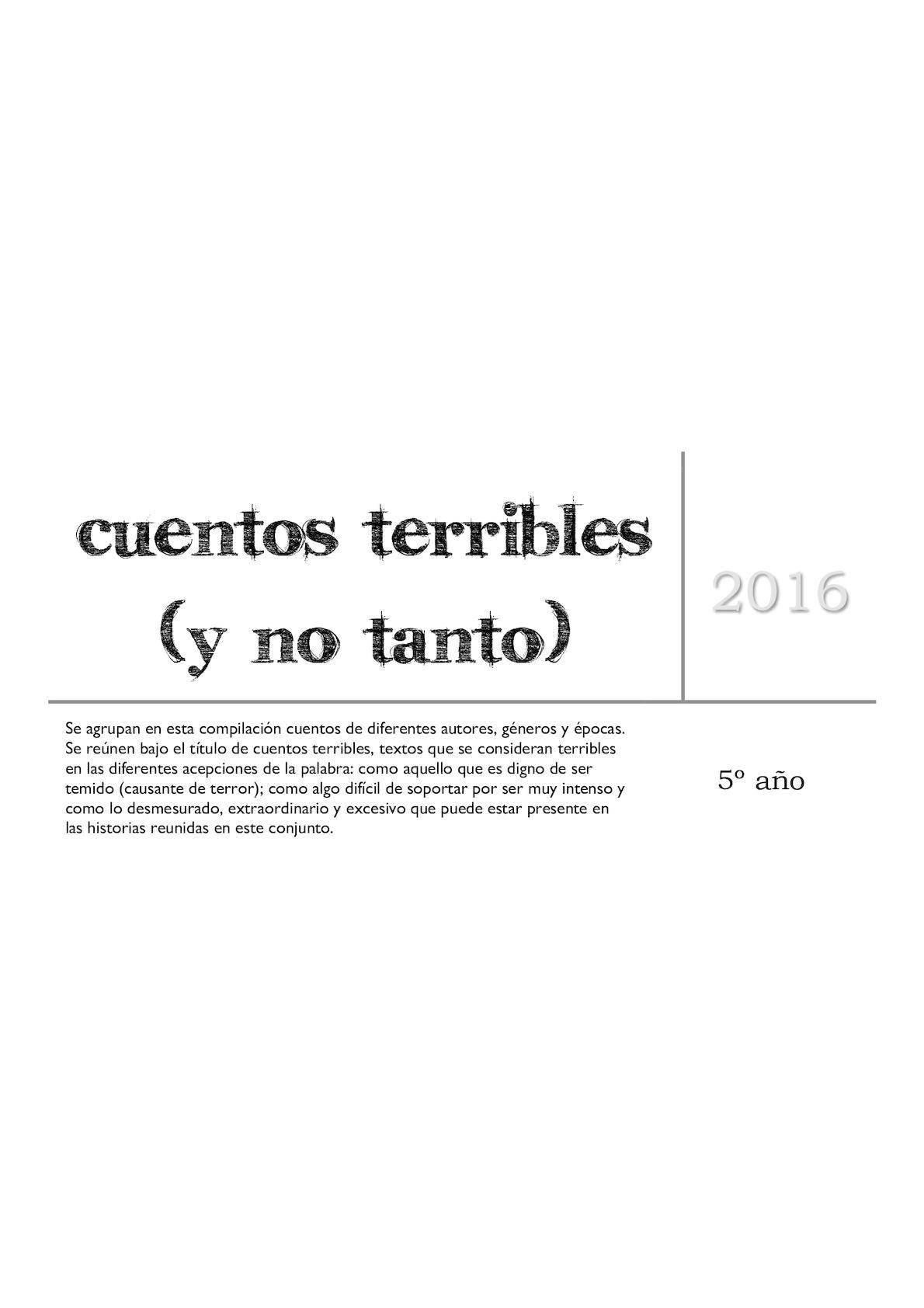 Calaméo - Compilación De Cuentos Terribles 2016 a9c48720ae1de