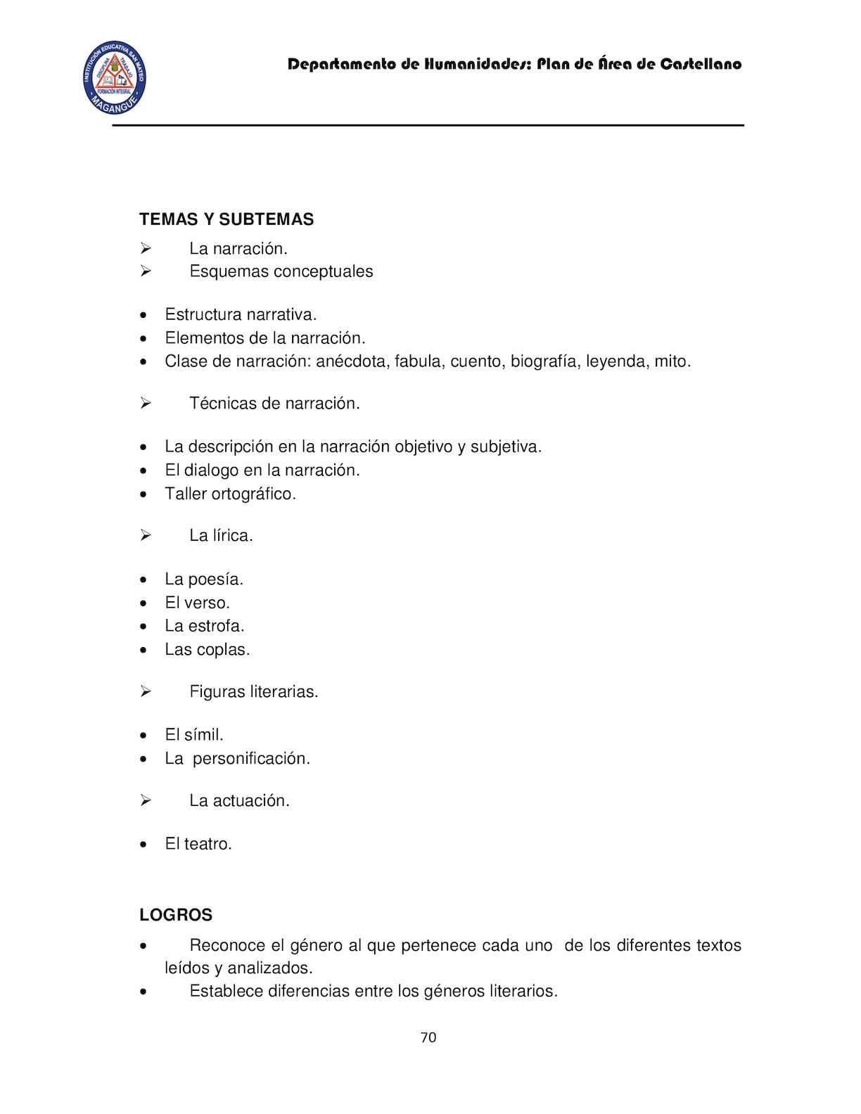 Plan De Estudio Castellano 2016 Samy 2 Calameo Downloader