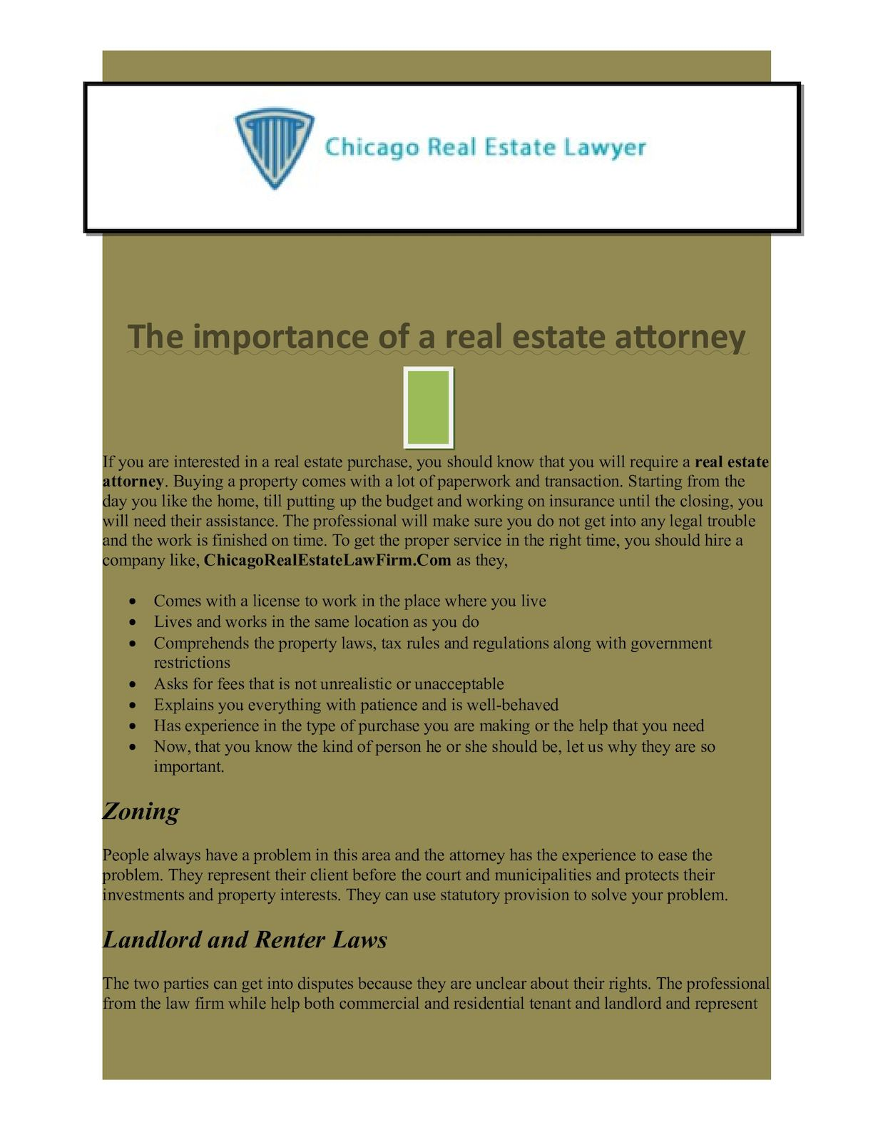 Calaméo - The Importance Of A Real Estate Attorney