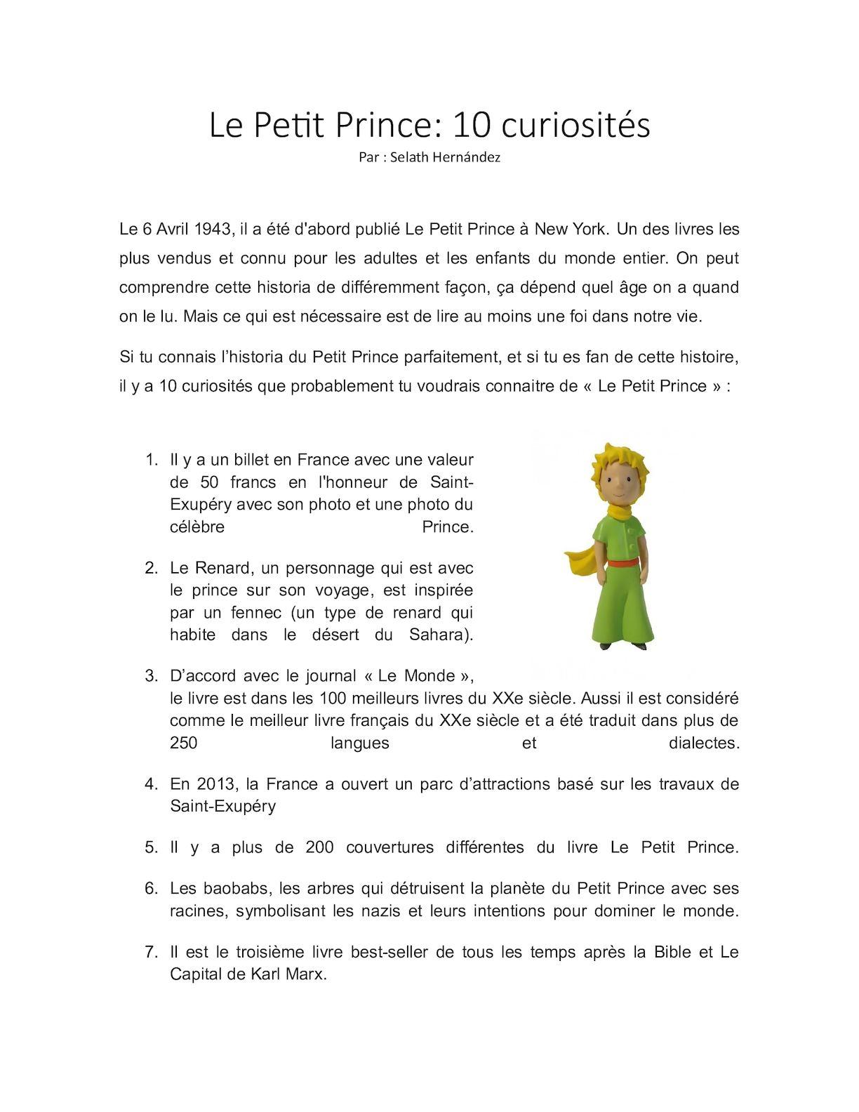Calameo Le Petit Prince 10 Curiosites