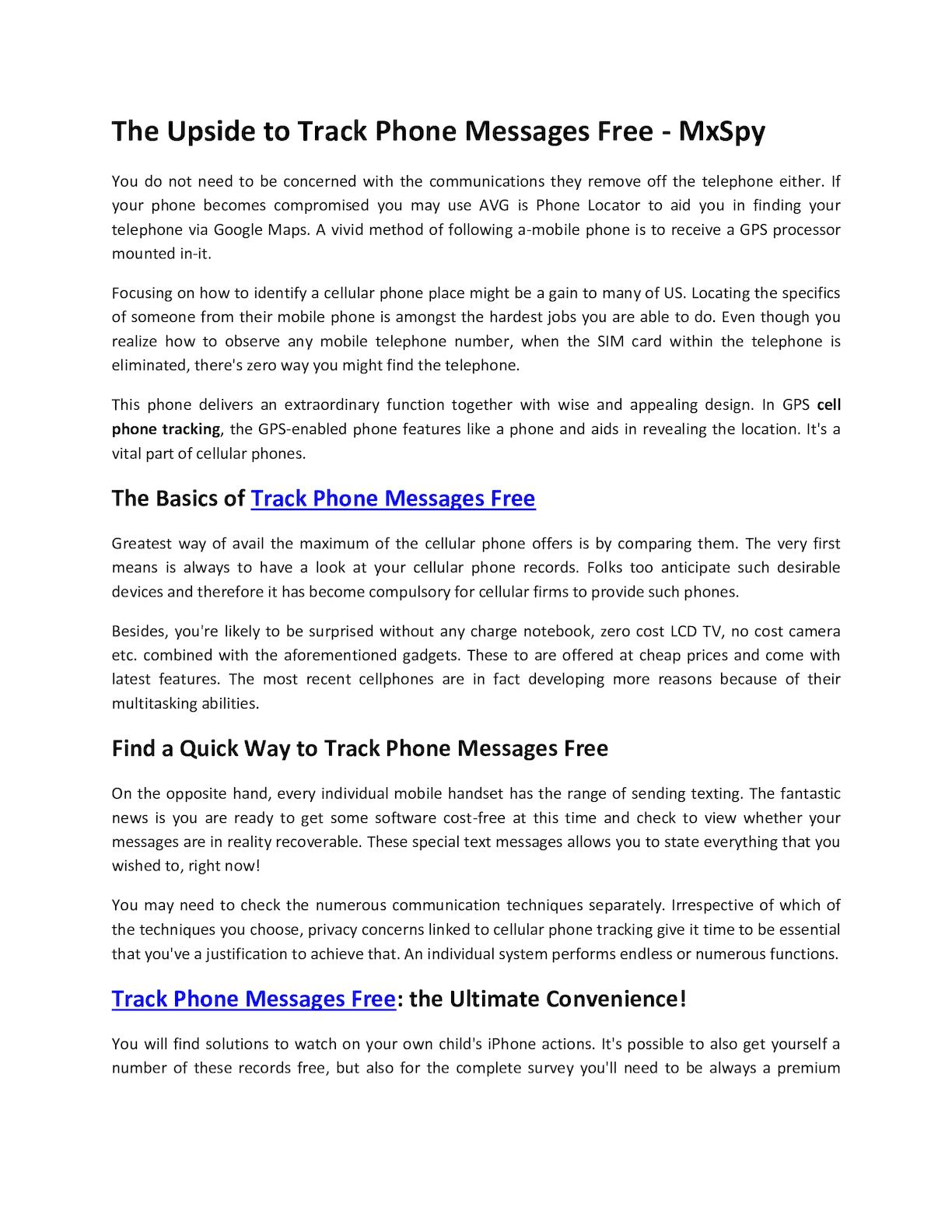 Calaméo - The Upside To Track Phone Messages Free Mx Spy
