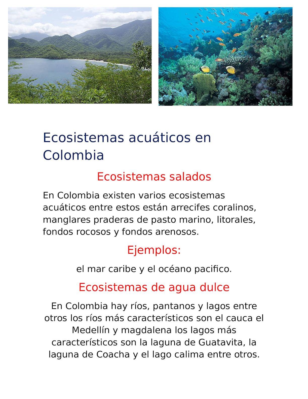 Calaméo Ecosistemas Acuáticos En Colombia