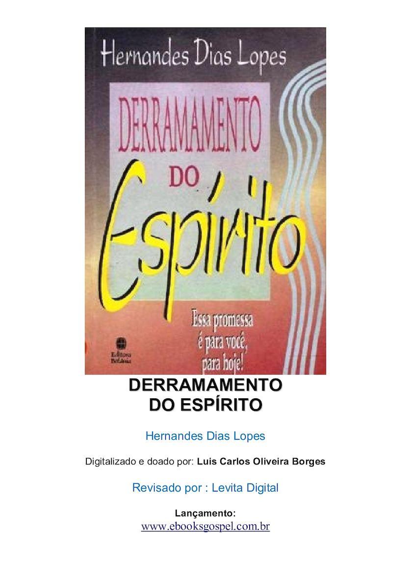Derramamento Do Espírito - Hernandes Dias Lopes