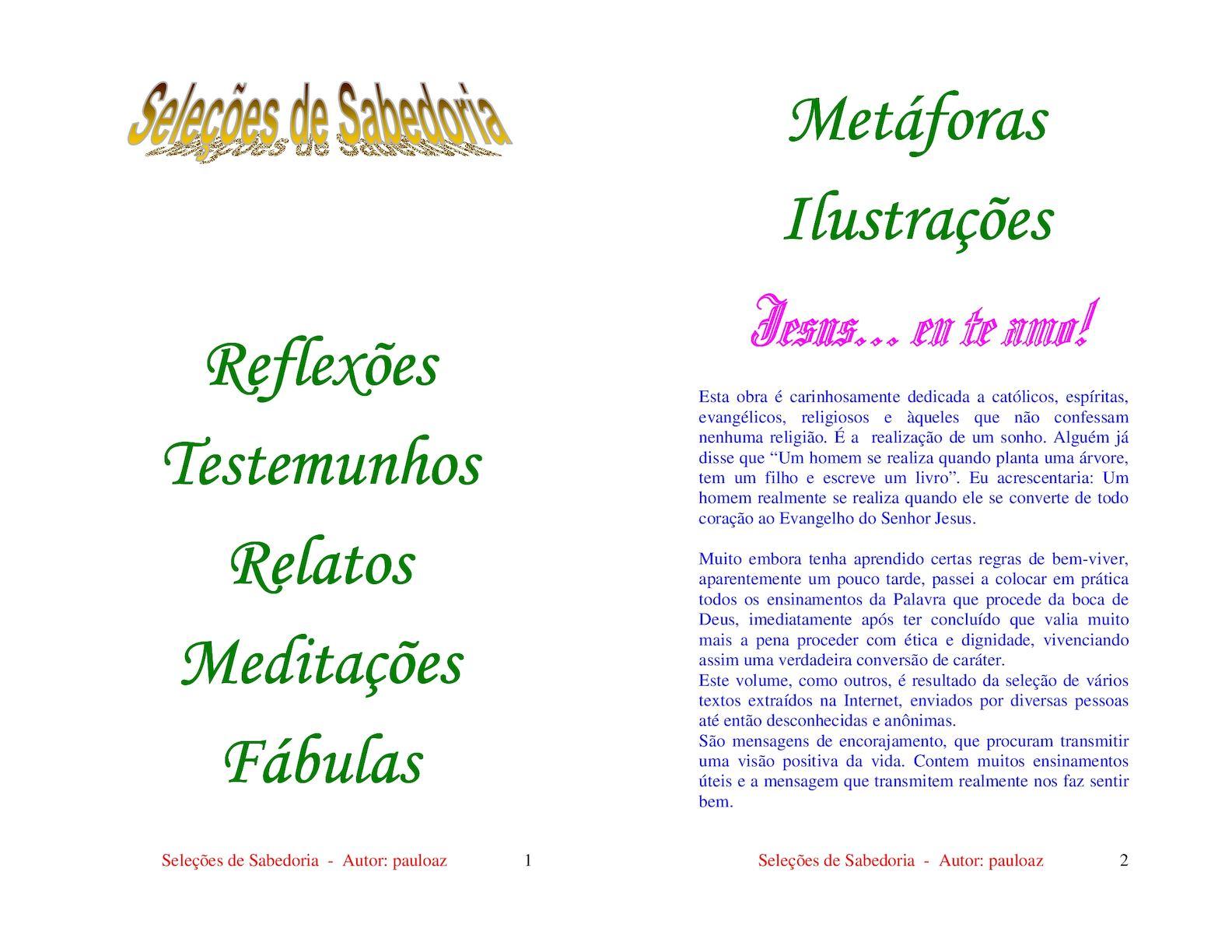 Calaméo - Seleções De Sabedoria - Pauloaz 2dc5be79abebe