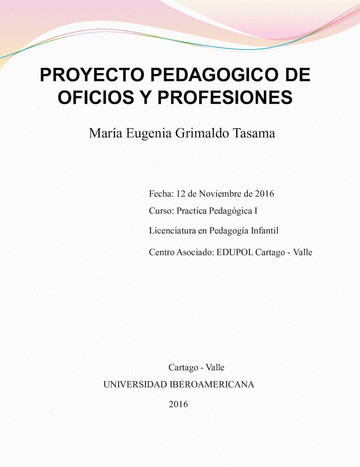 Calaméo Proyecto De Oficios Y Profesiones 2