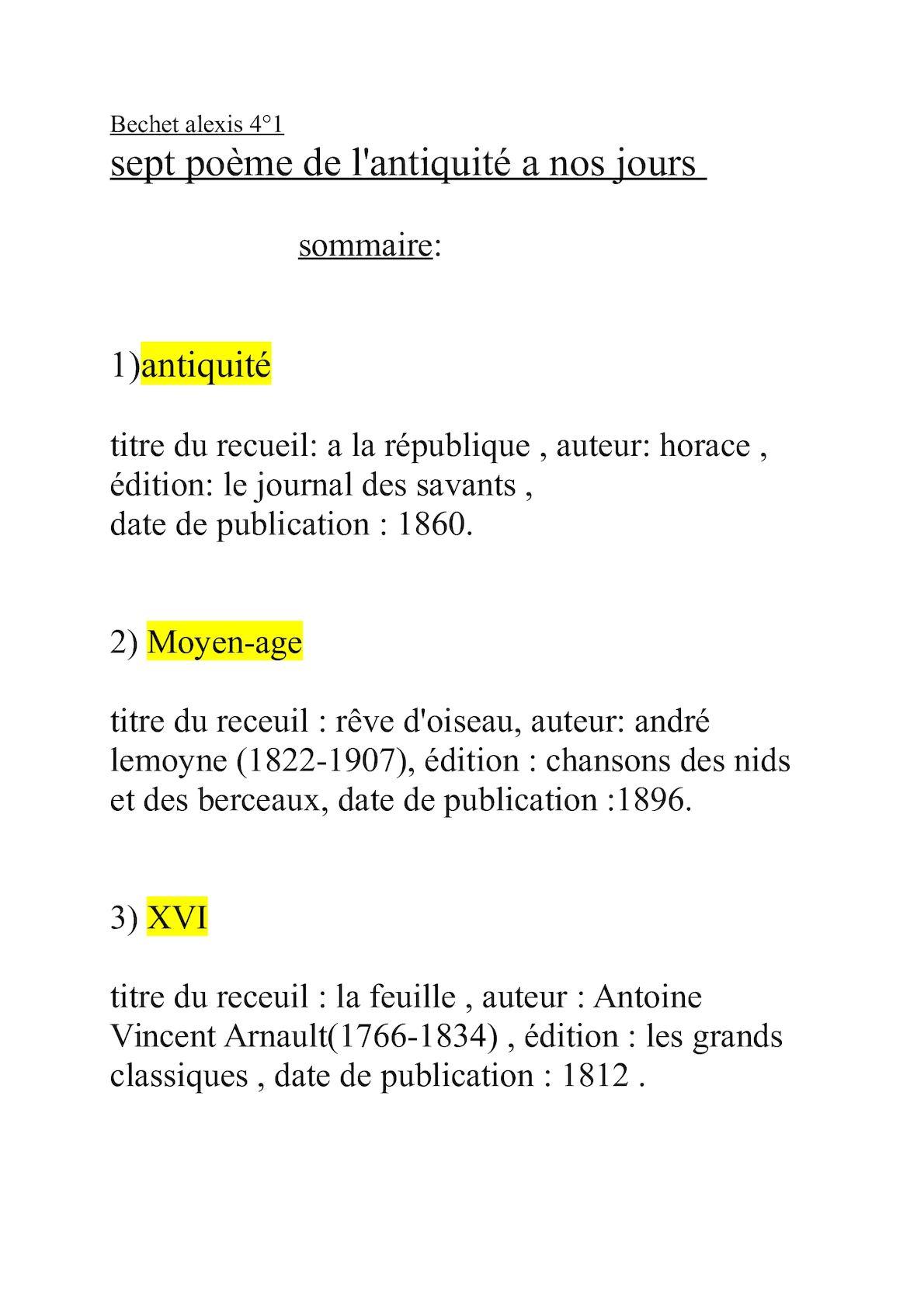 Calaméo Sept Poème Au Cour Des Siecles