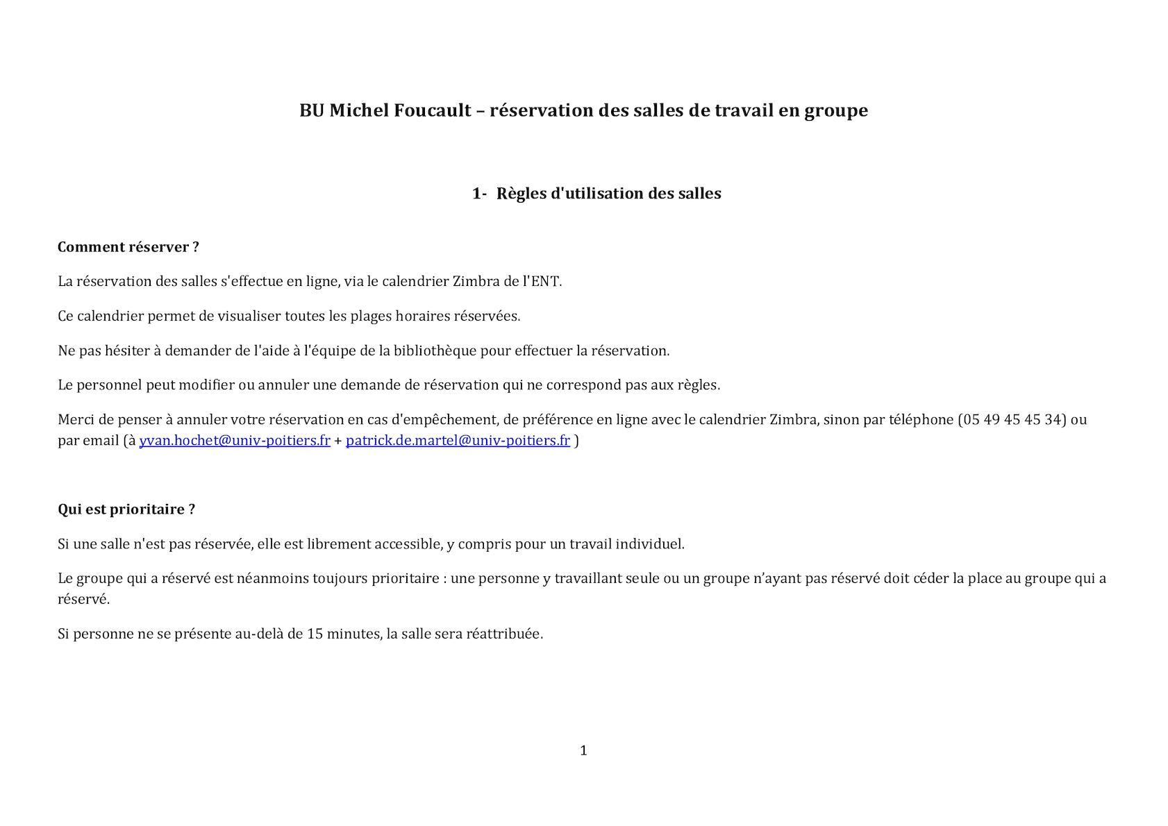 Calameo Comment Reserver Une Salle De La Bu Michel Foucault