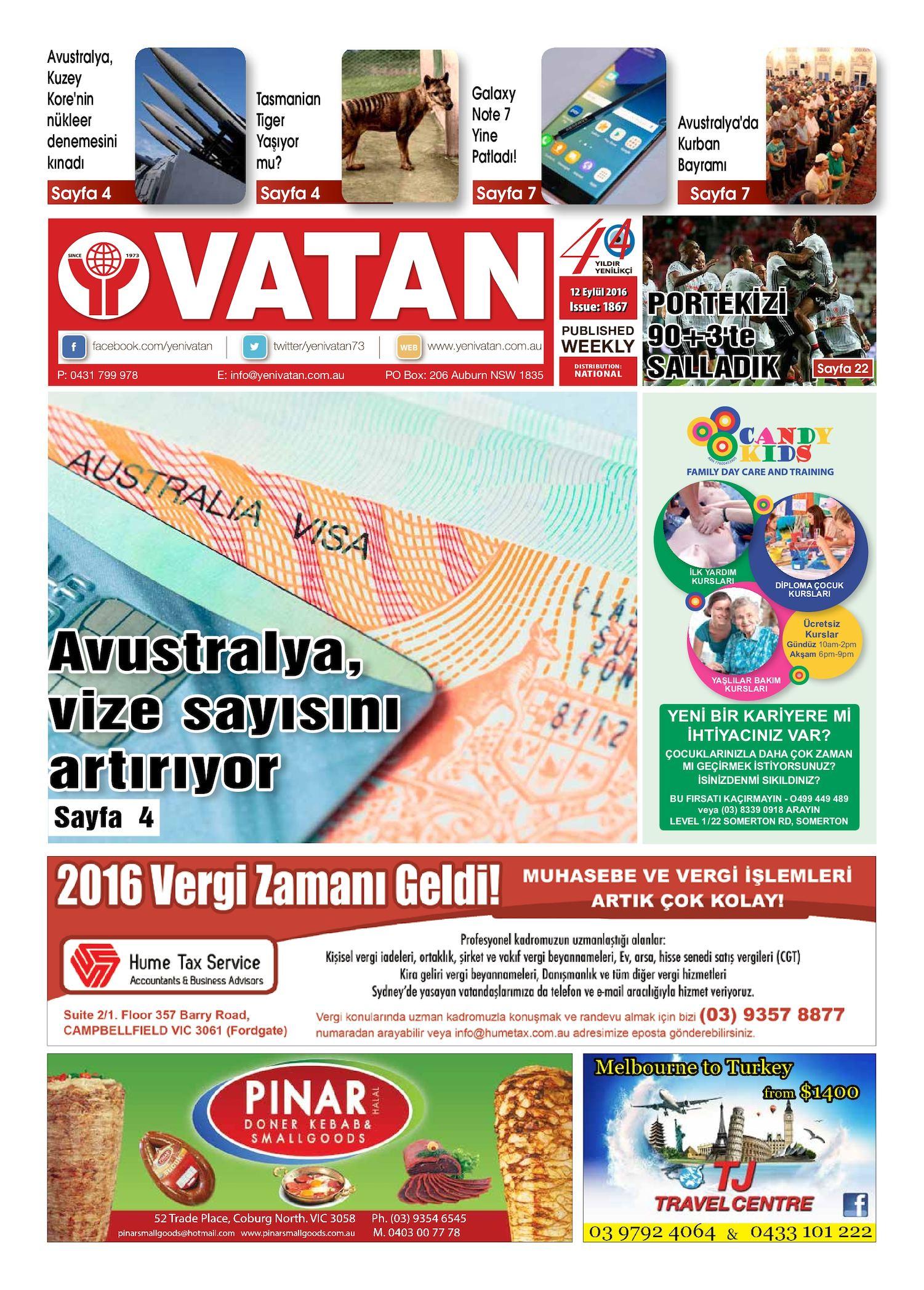 Calameo Yeni Vatan Turkish Newspaper Issue No 1867