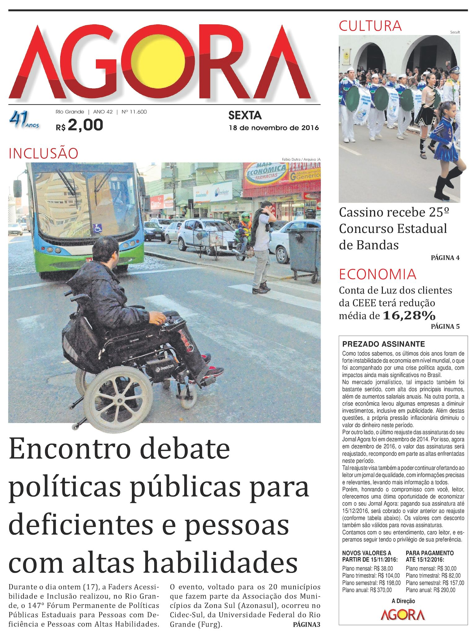 228b14625 Calaméo - Jornal Agora - Edição 11600 - 18 de Novembro de 2016