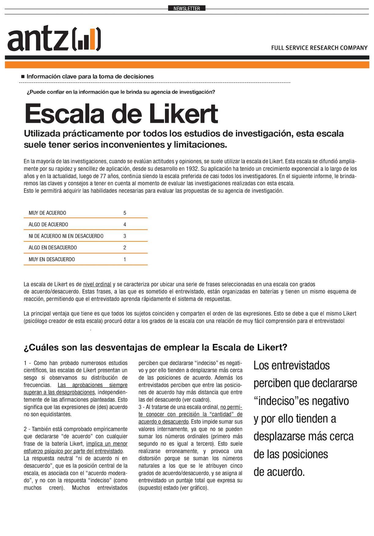 Calaméo Acervo Bibliotecologia Escalas Escala De Likert