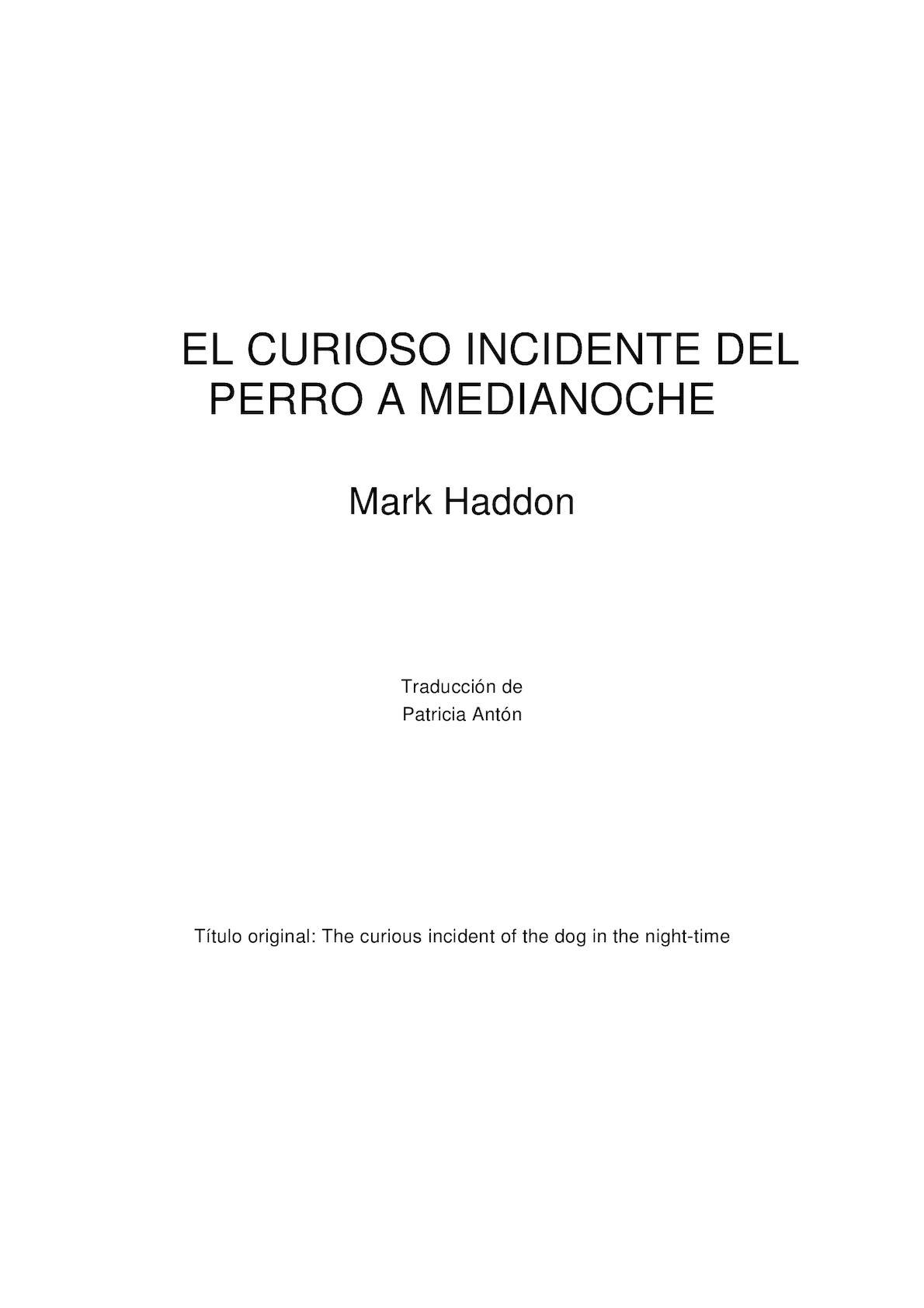 94f780684a Calaméo - El Curiosos Incidente Del Perro A Medianoche Mark Haddon