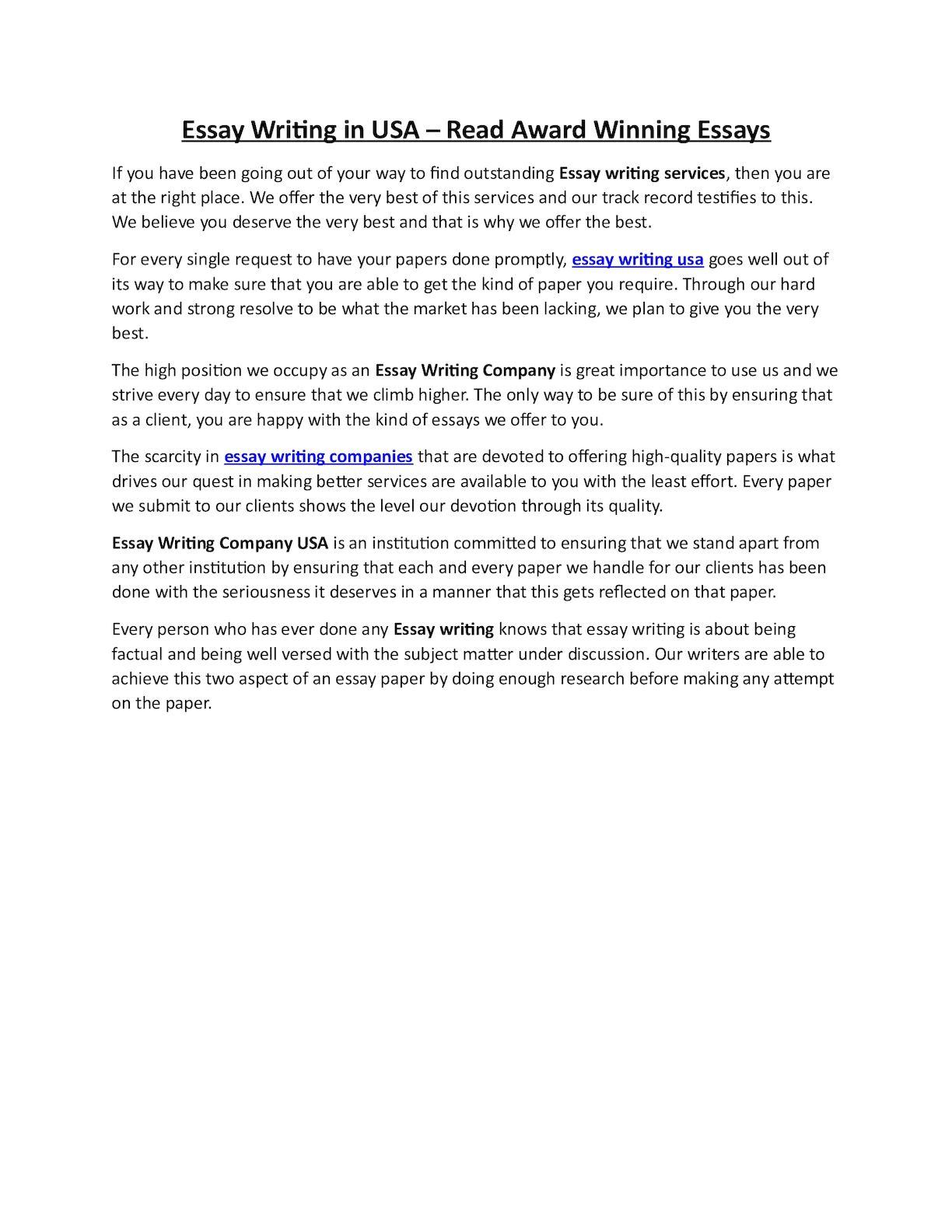 Best essays writing services us essays evil