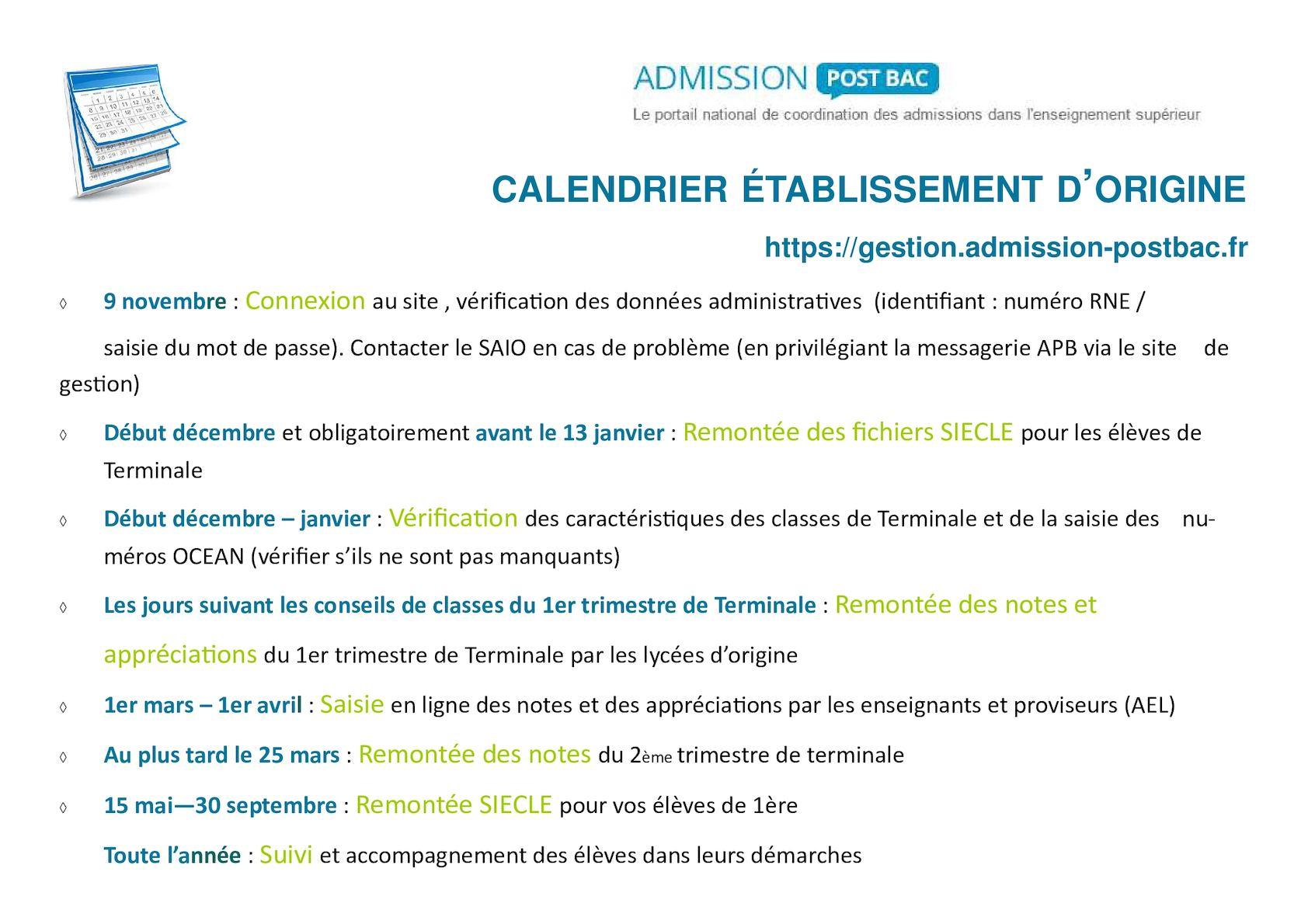 Calameo Calendrier Apb 2017 Etablissement D Origine