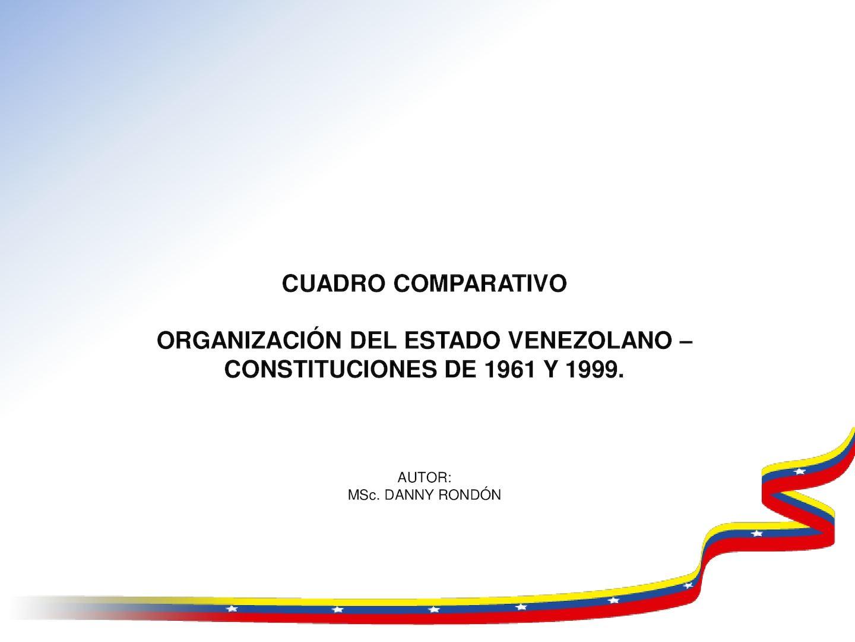 Calaméo Cuadro Comparativo Constituciones De 1961 Y 1999