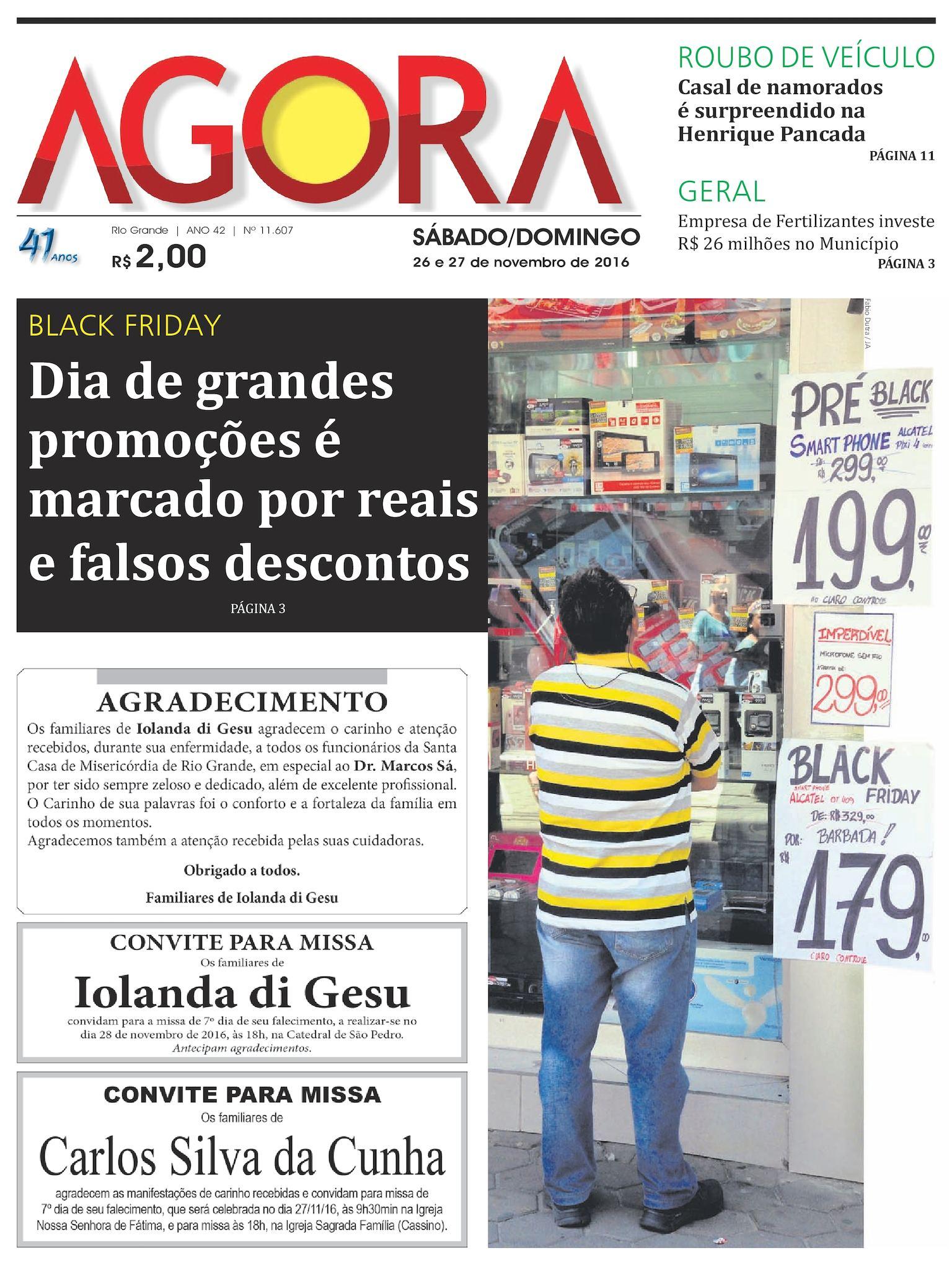 Calaméo - Jornal Agora - Edição 11607 - 26 e 27 de Novembro de 2016 d28e4b003e