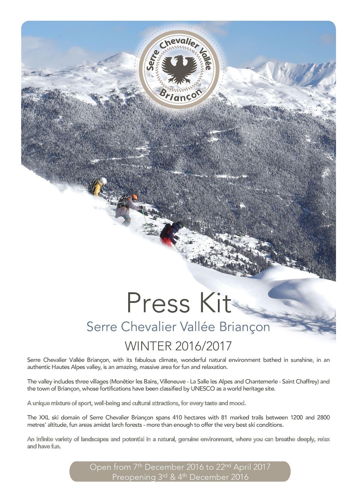 Calameo Press Kit Winter 2016 2017 Serre Chevalier Vallee