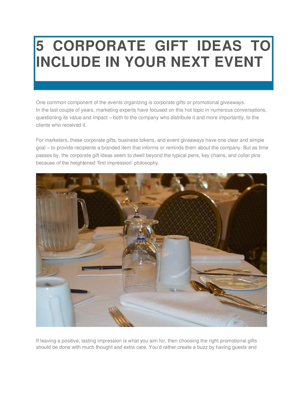 Calameo 5 Corporate Gift Ideas To Include In Your Next Event