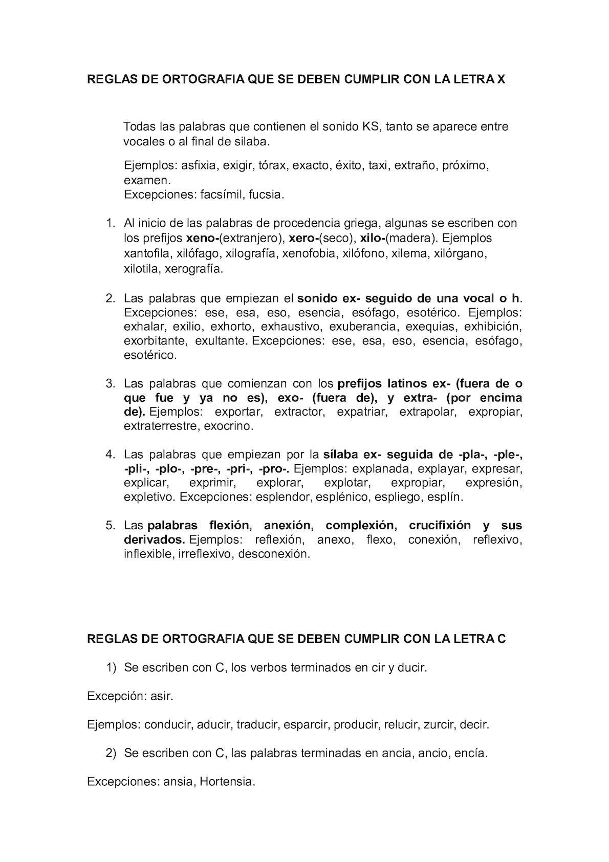 Calaméo Reglas De Ortografia Que Se Deben Cumplir Con La Letra X
