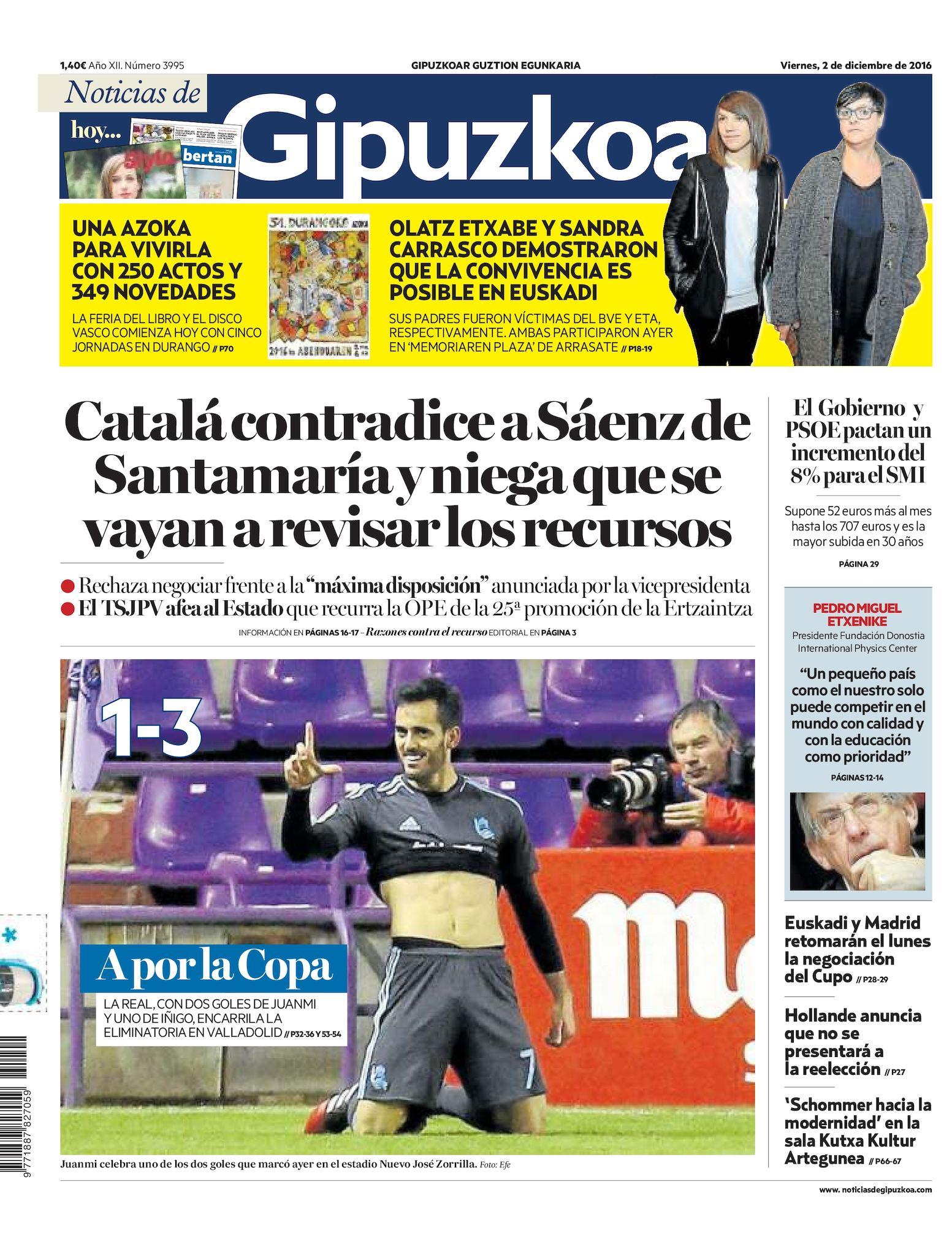 0e7daaf57b Calaméo - Noticias de Gipuzkoa 20161202