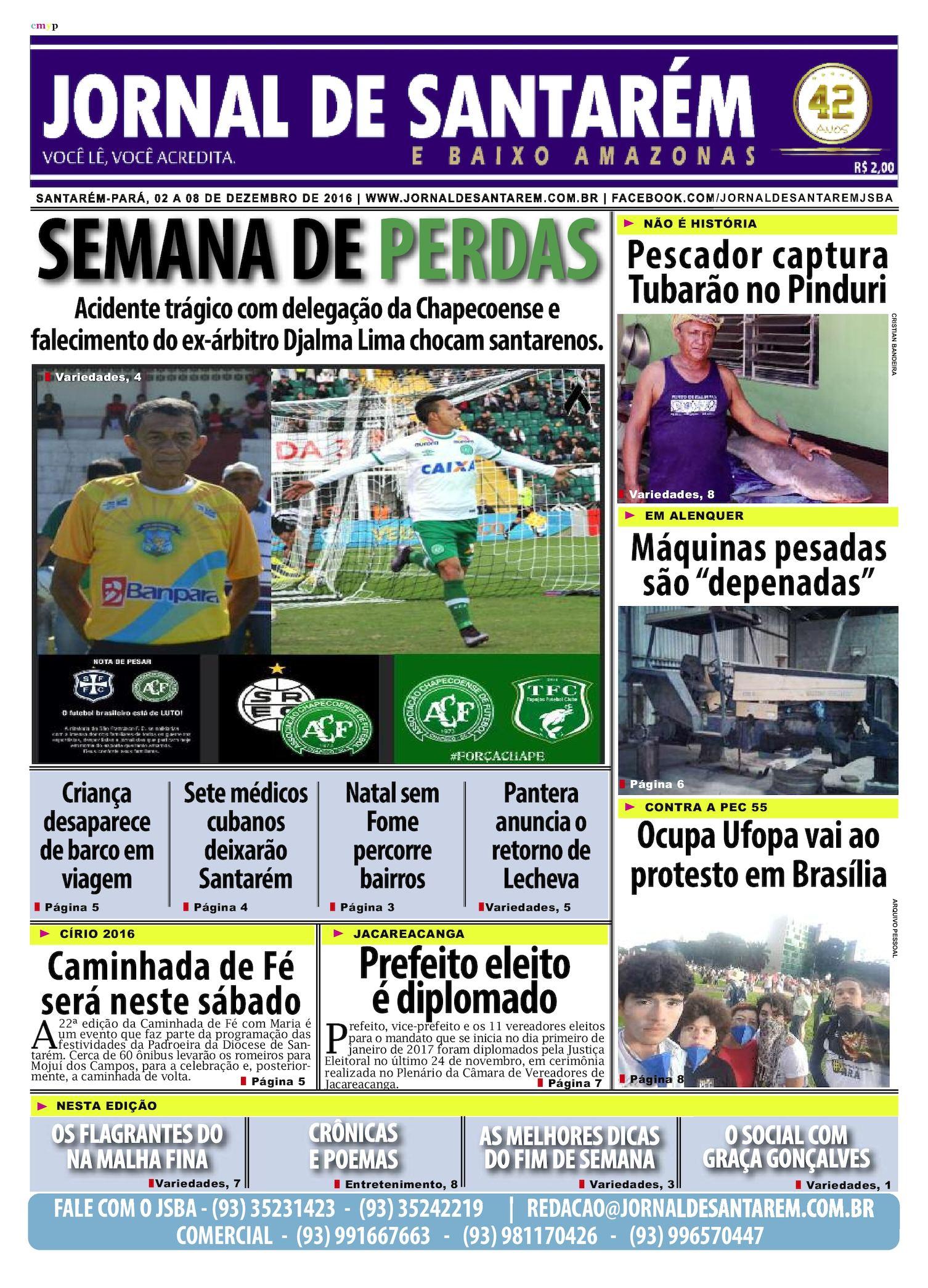 Calaméo - JORNAL DE SANTARÉM E BAIXO AMAZONAS EDIÇÃO DE 02 A 08 DE DEZEMBRO  DE 2016 4d6b06beb7cc6