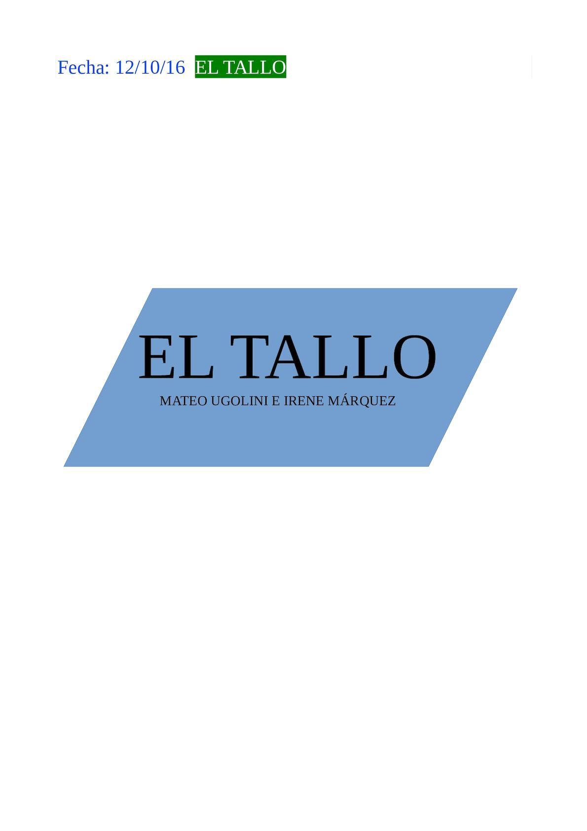 Calaméo Tallo Irene Y Mateo