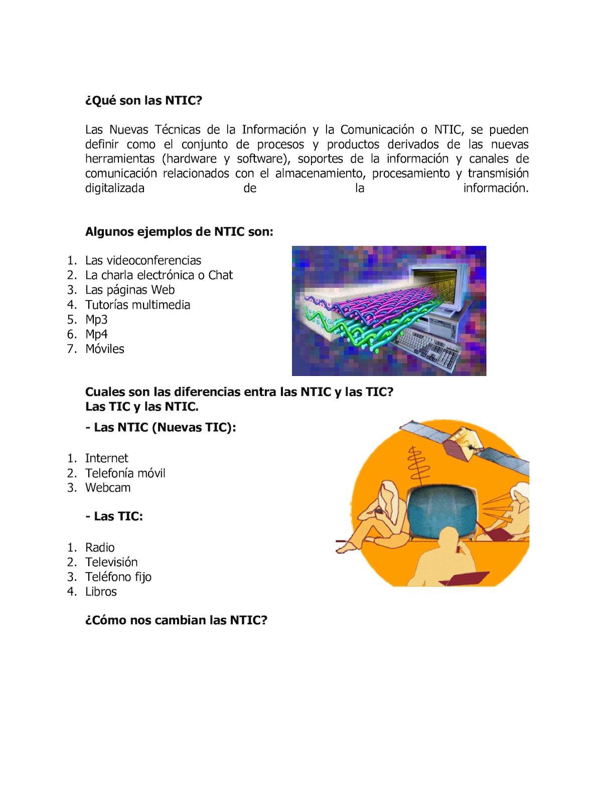 Importancia De Las NTIC