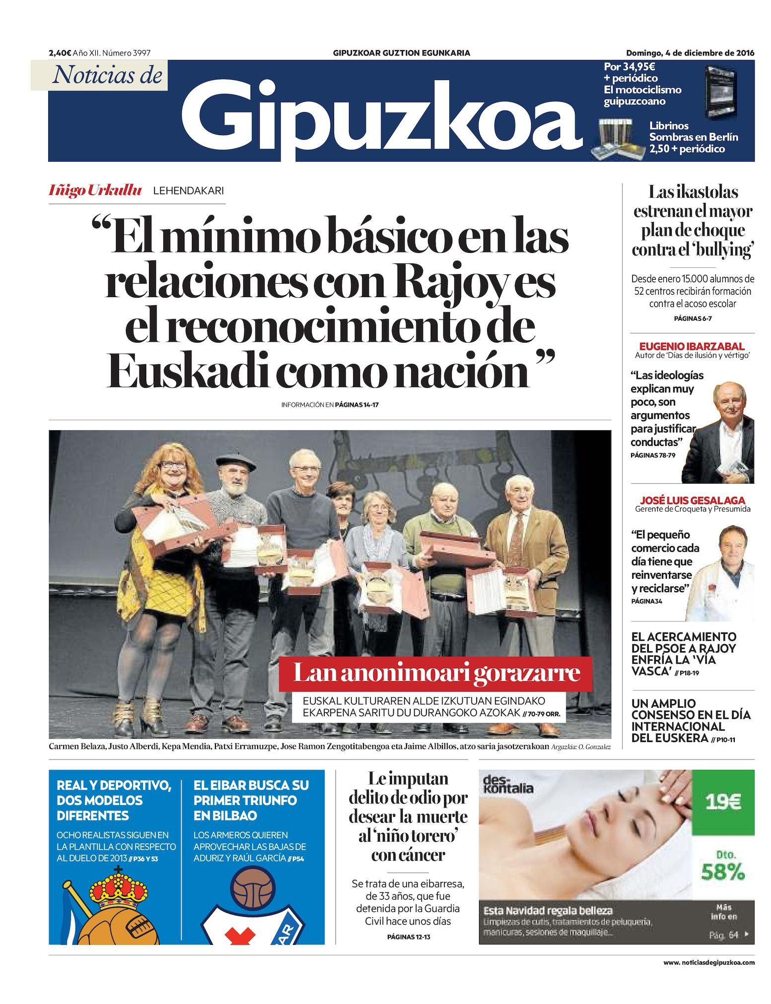 Calaméo Noticias De Gipuzkoa 20161204
