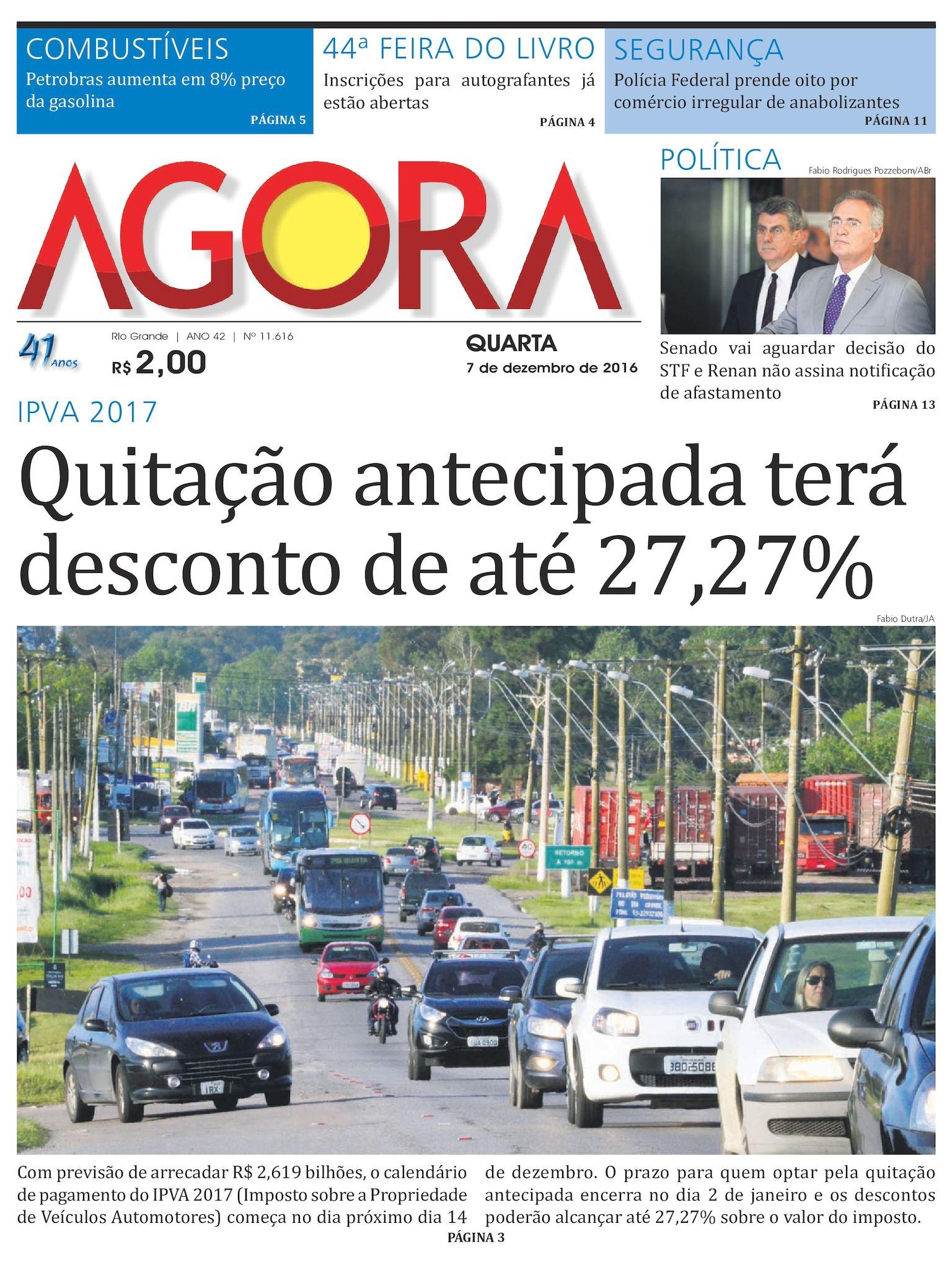 b7bfe5667 Calaméo - Jornal Agora - Eidção 11616 - 7 de Dezembro de 2016