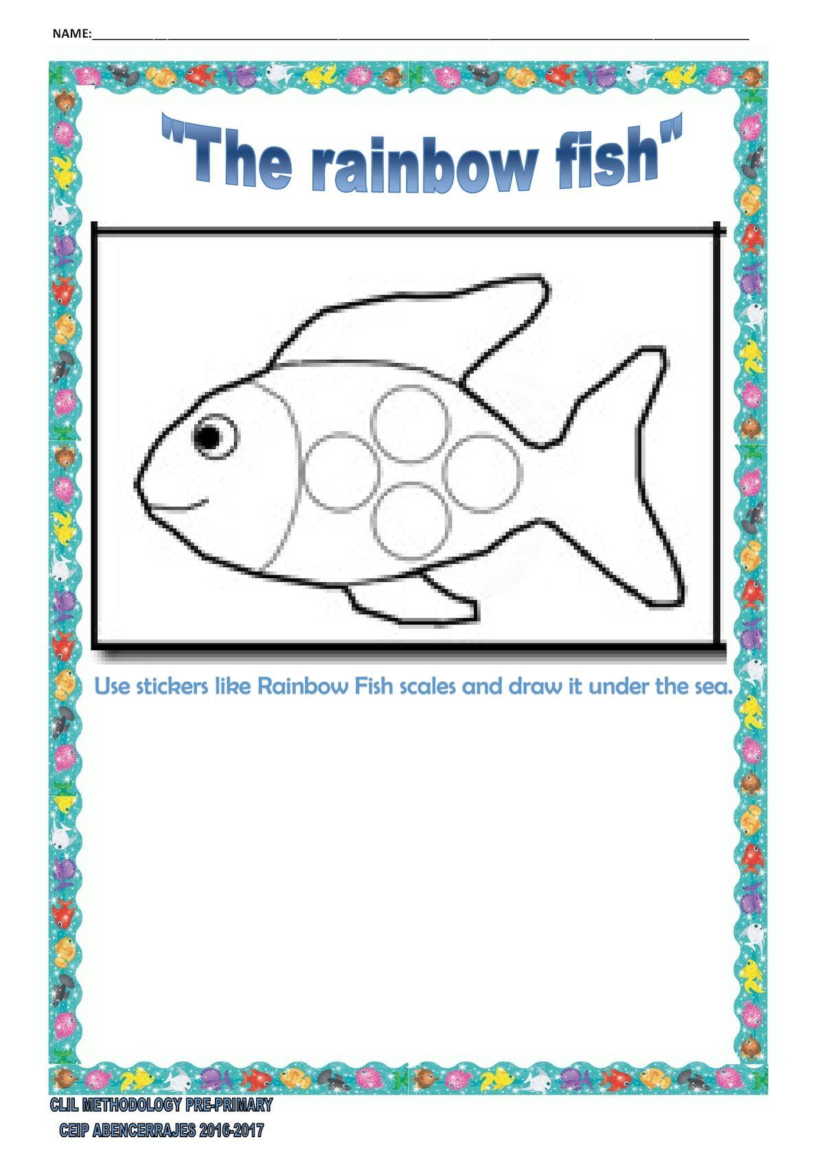 Worksheets Rainbow Fish Worksheets the rainbow fish worksheets