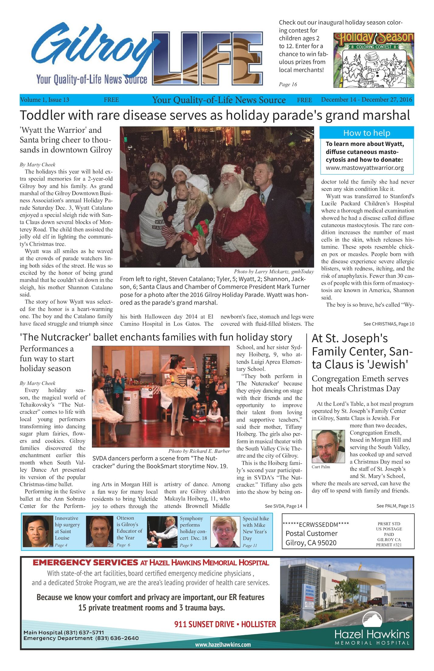 Calameo Gilroy Life Volume 1 Issue 13 December 14 27 2016