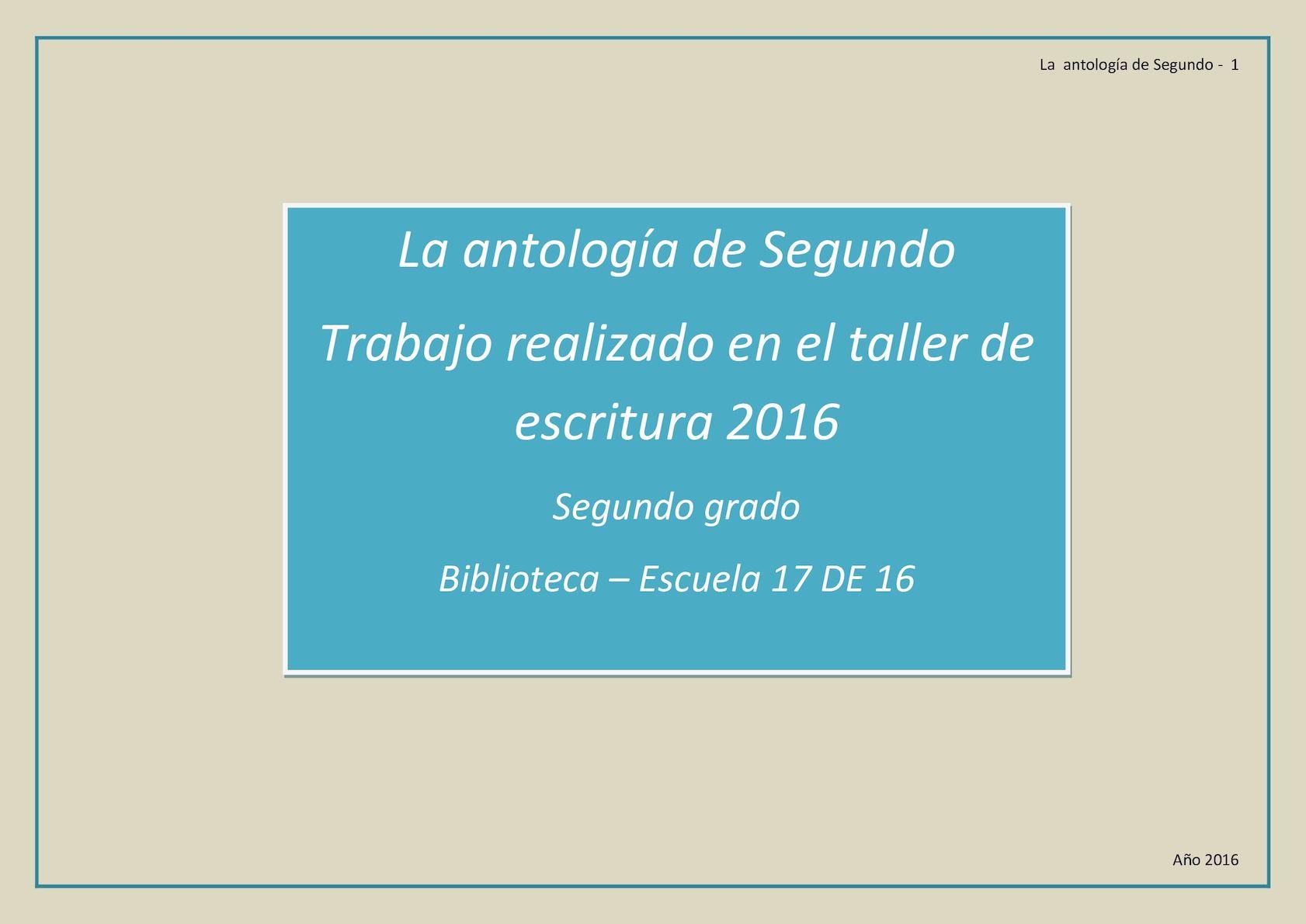 Segundo Antología Antología Grado 2016 Calaméo Calaméo Grado Segundo W29EDHI