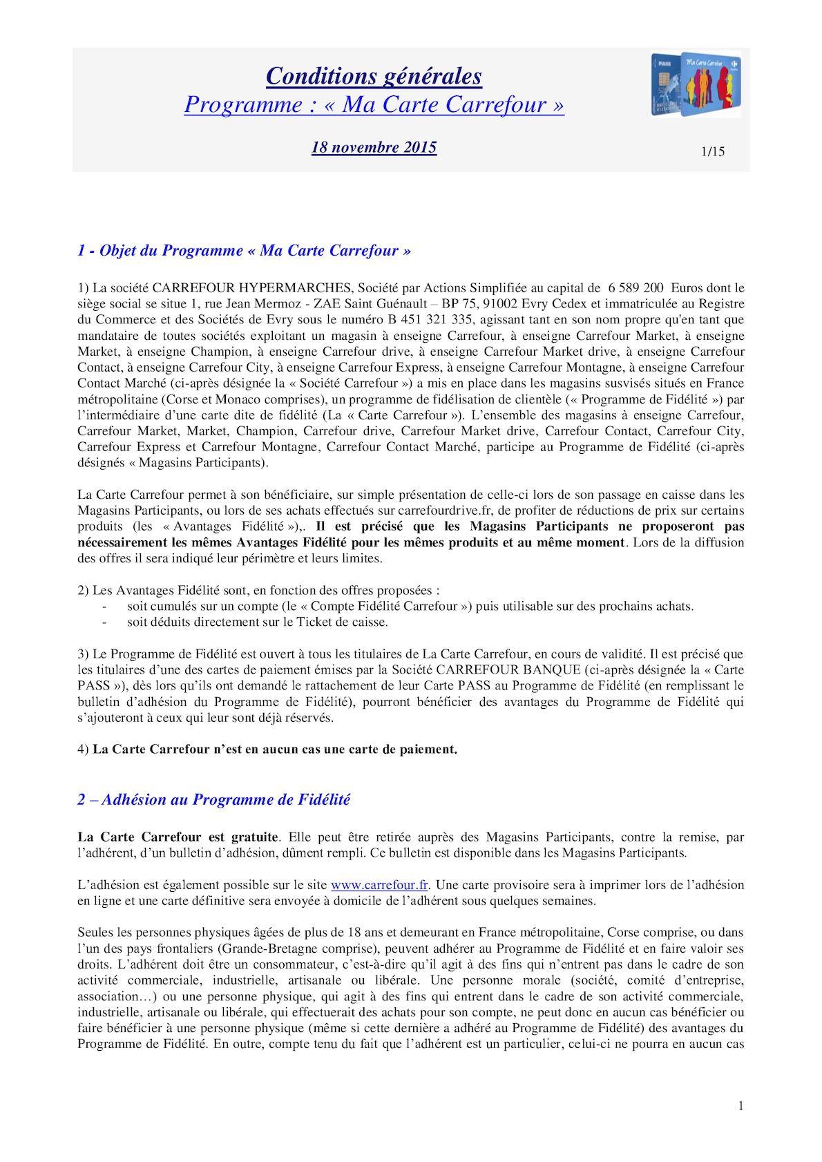 Carte Carrefour Ticket De Caisse.Calameo Reglement Carte Carrefour 18 11 2015