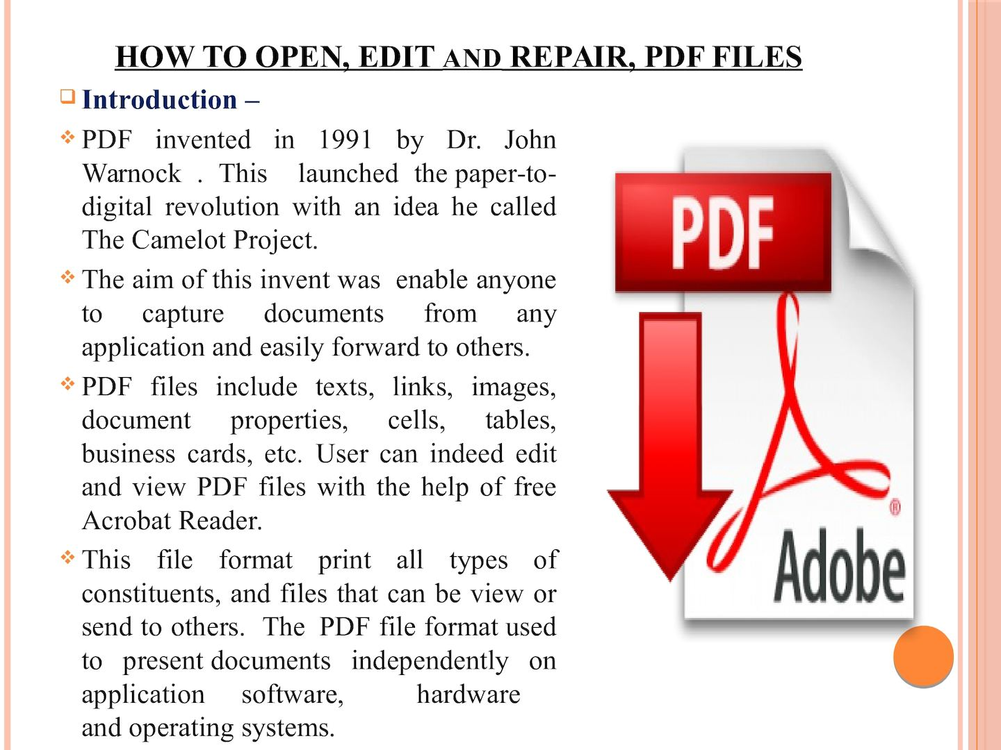 Calaméo - How To Open,Edit and repair PDF file ppt