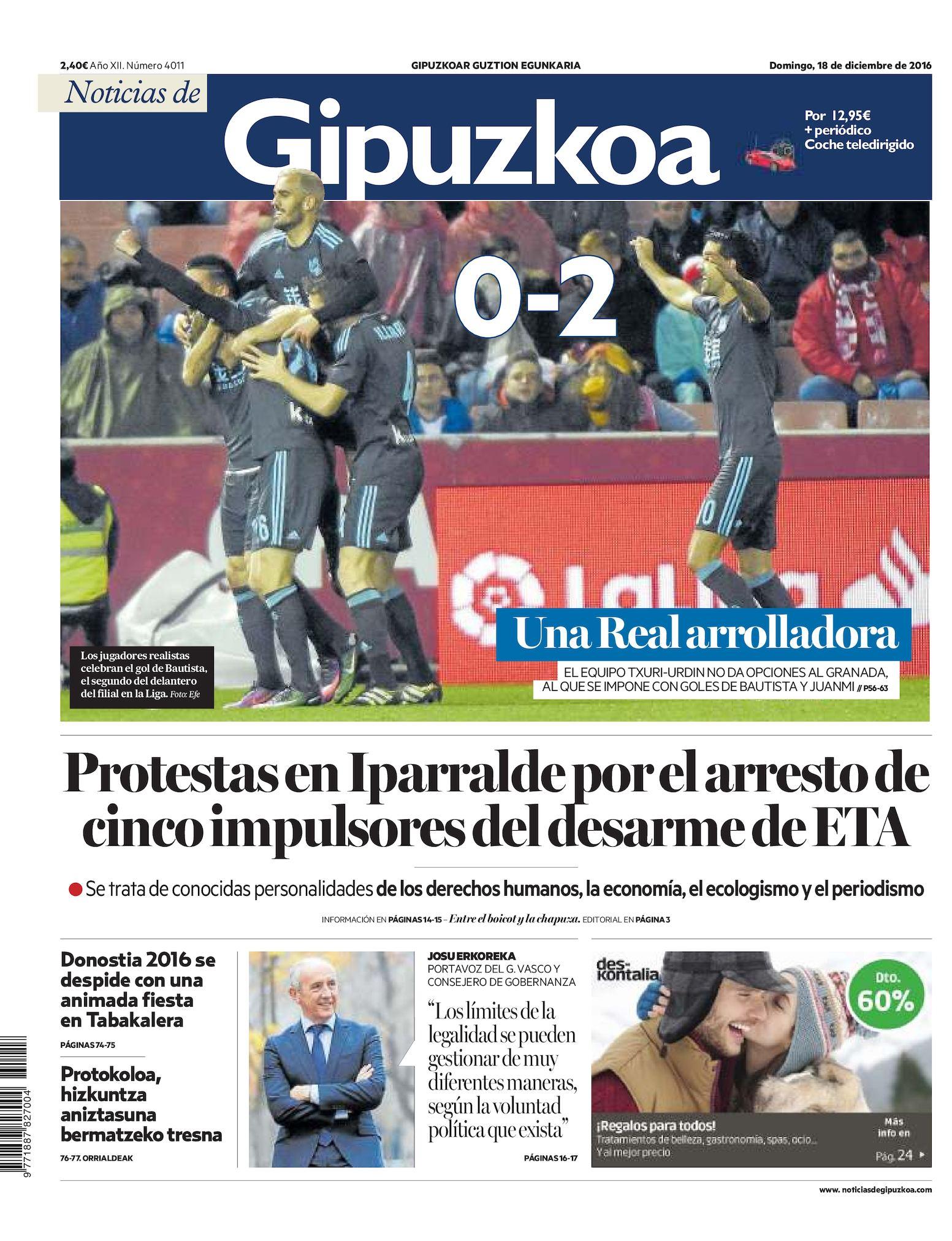 db11227af90e02 Calaméo - Noticias de Gipuzkoa 20161218