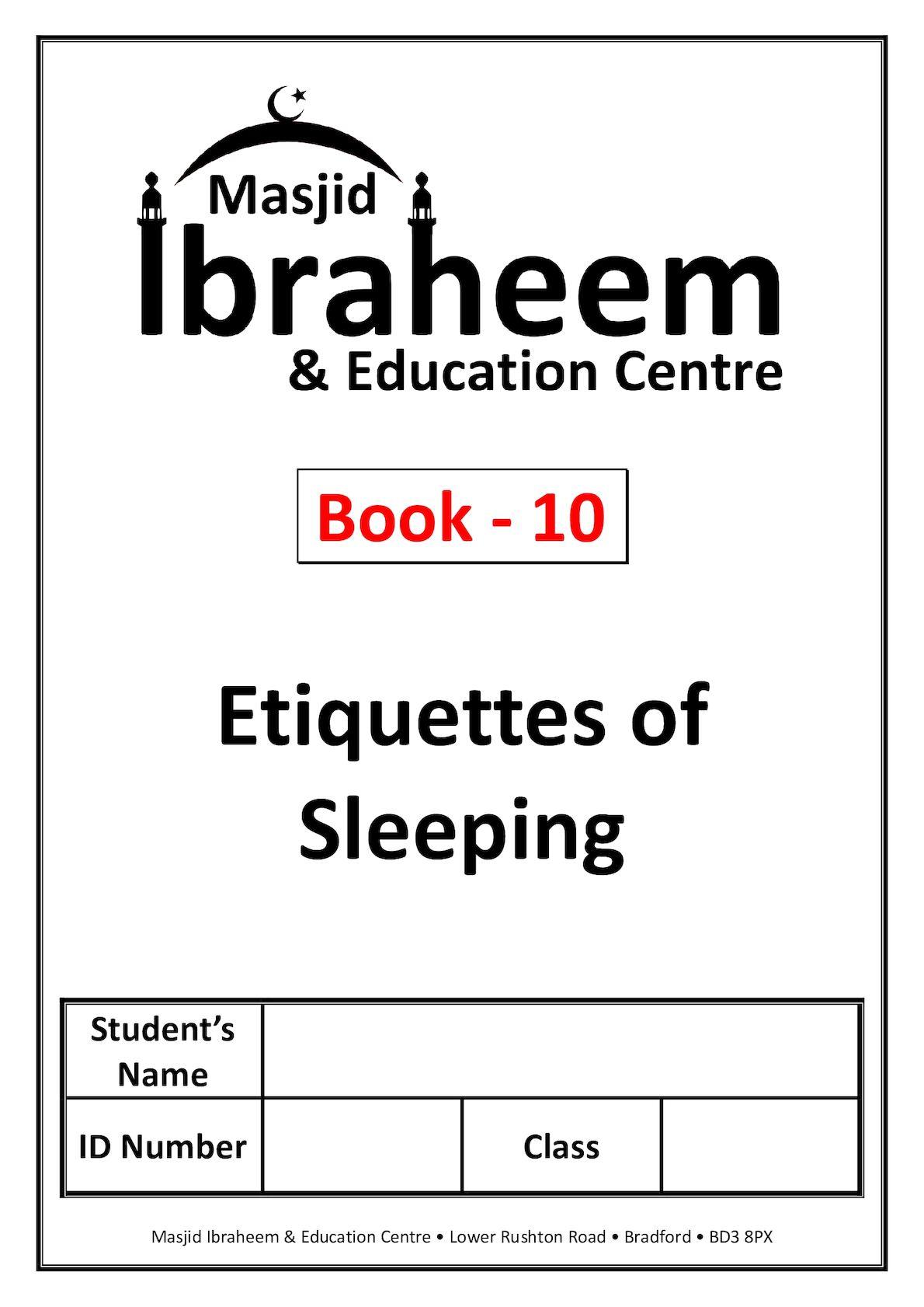 Calaméo - Syllabus - 10 Etiquettes Of Sleeping