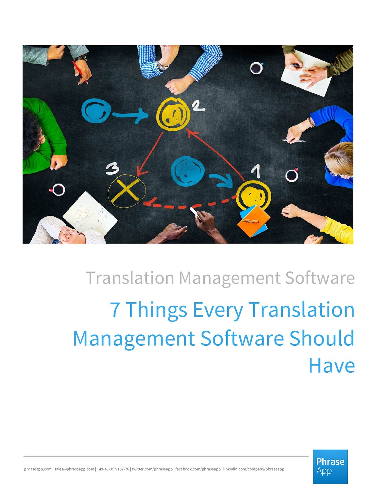 7things Every Translation Management Software Should Have