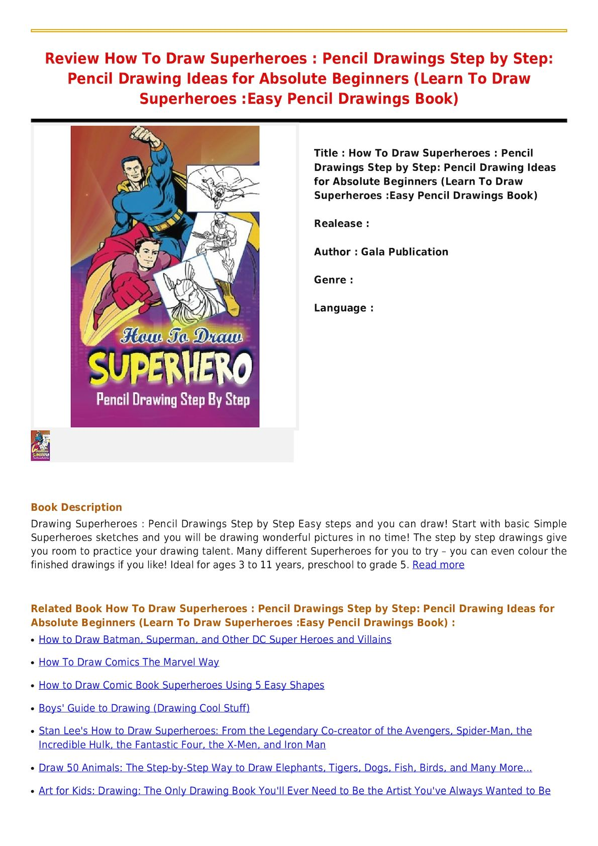 WRG-6273] How To Draw More Comic Book Superheroes Using 5 Easy Shapes