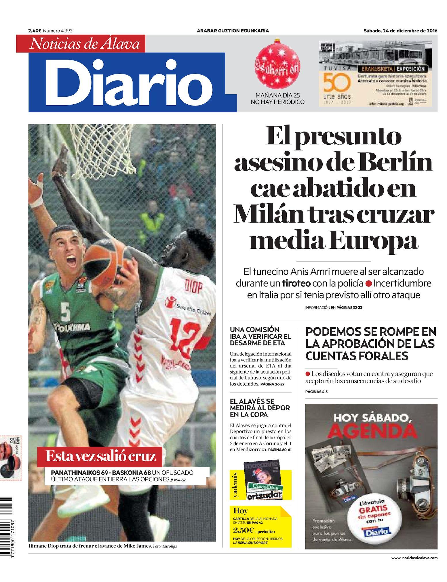 bdaea4e60 Calaméo - Diario de Noticias de Álava 20161224