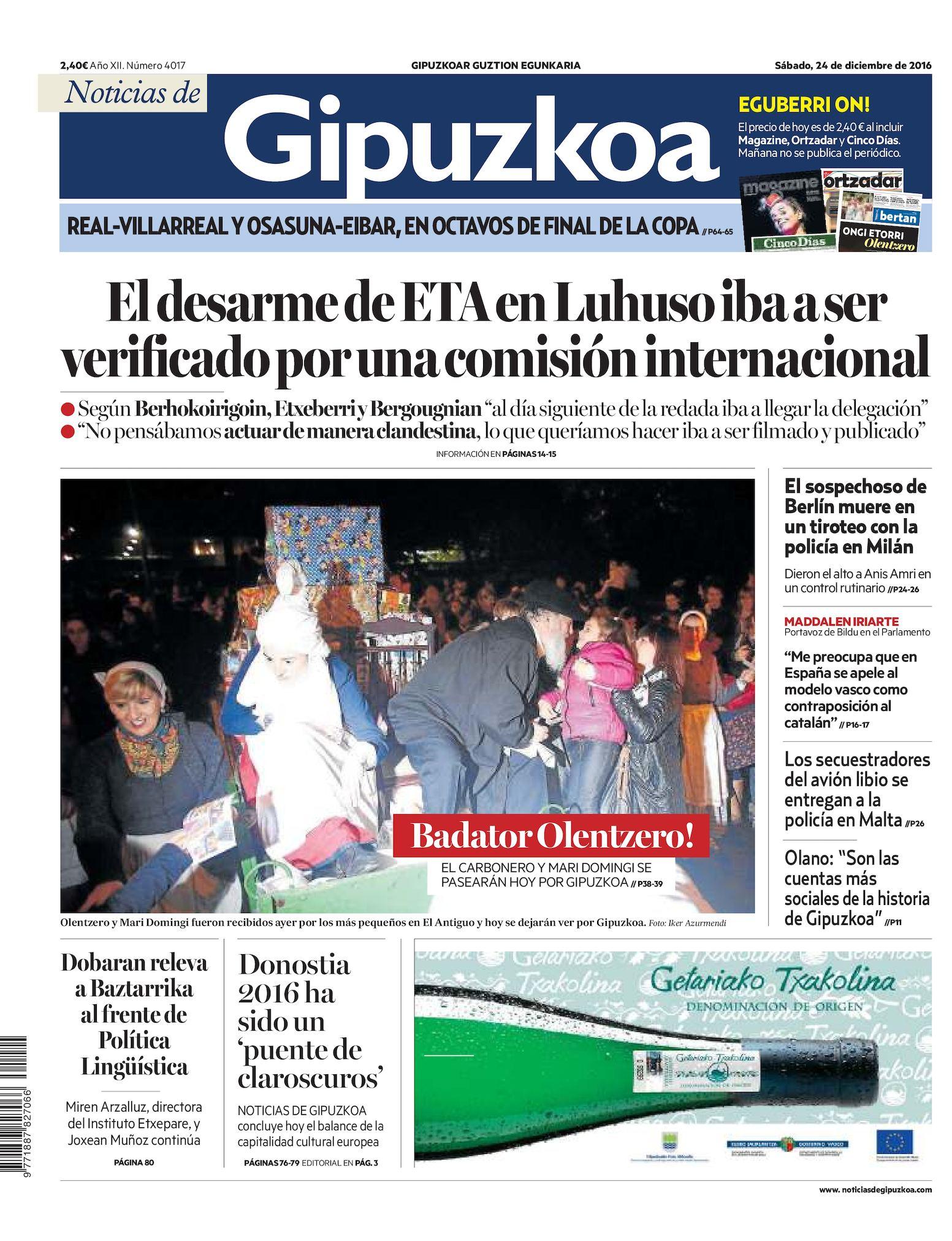 592ad6fddf99 Calaméo - Noticias de Gipuzkoa 20161224