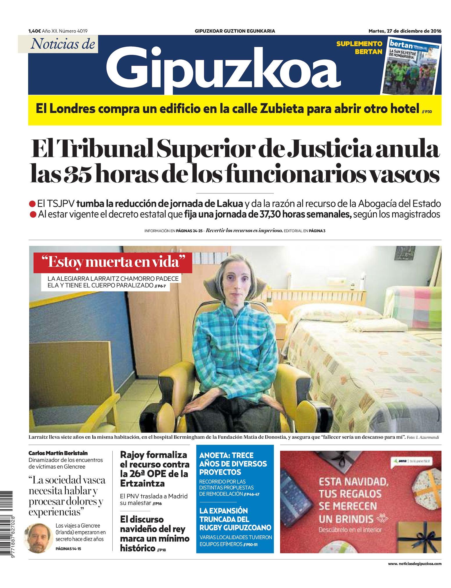 14e76e4192628 Calaméo - Noticias de Gipuzkoa 20161227
