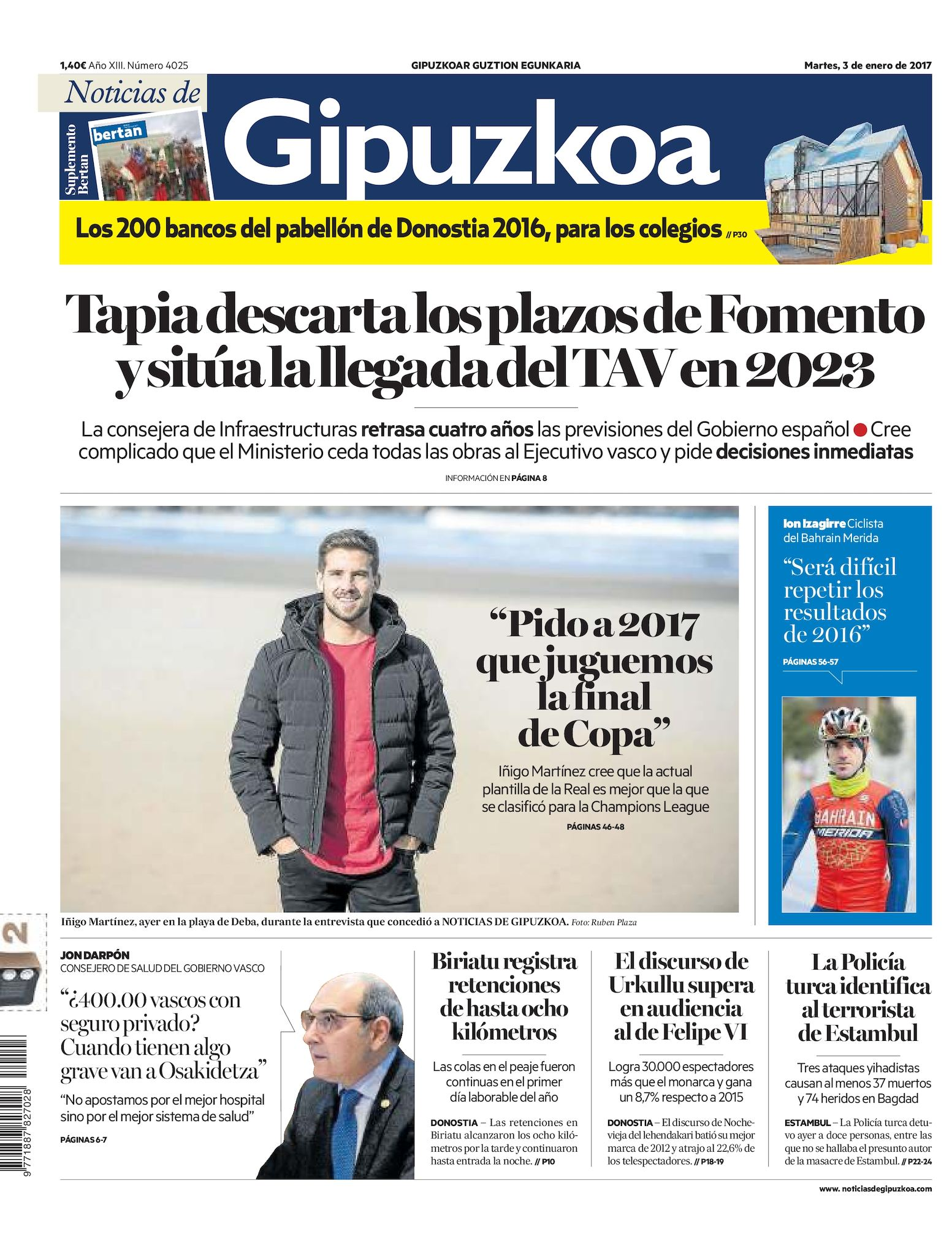 9681f4806d1 Calaméo - Noticias de Gipuzkoa 20170103