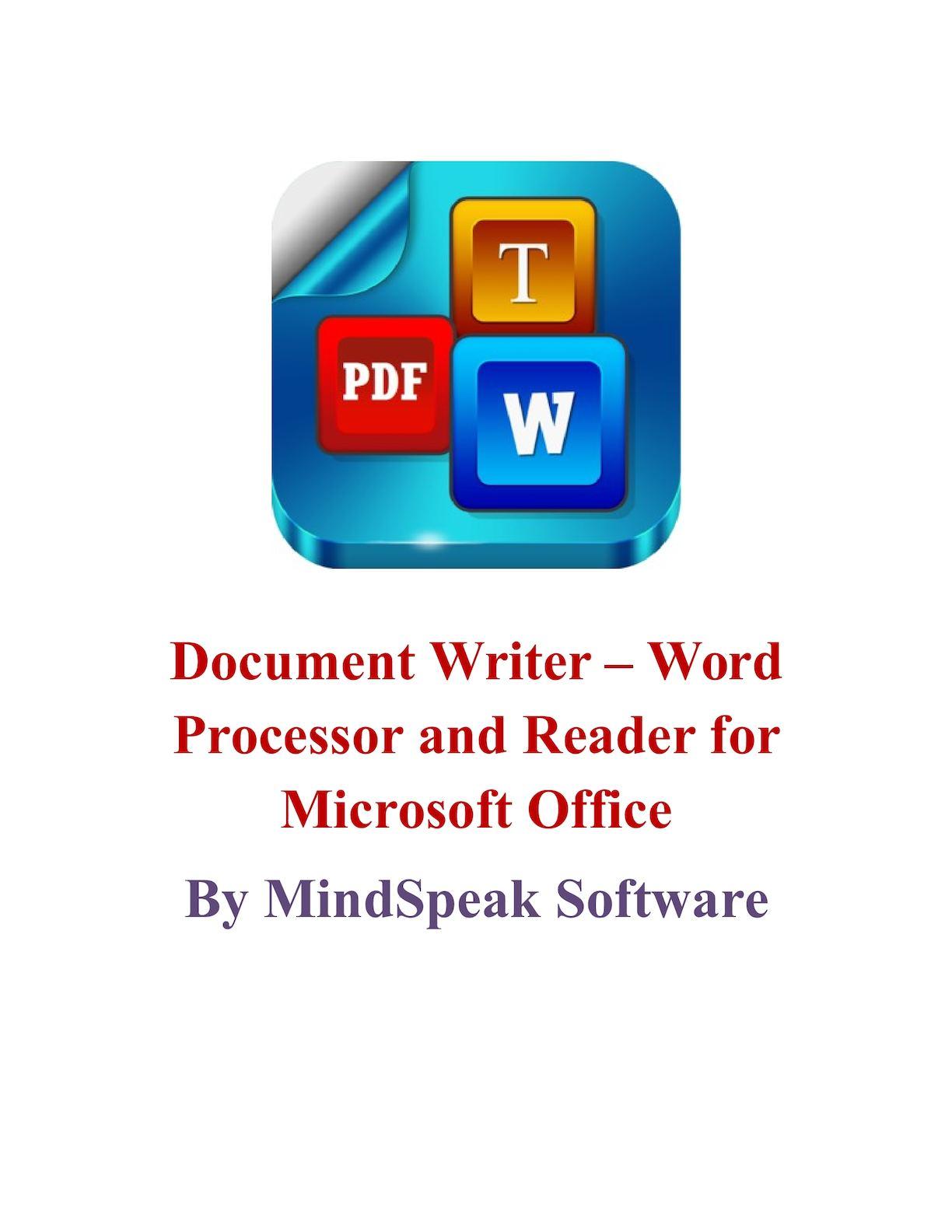 Document writer pdf